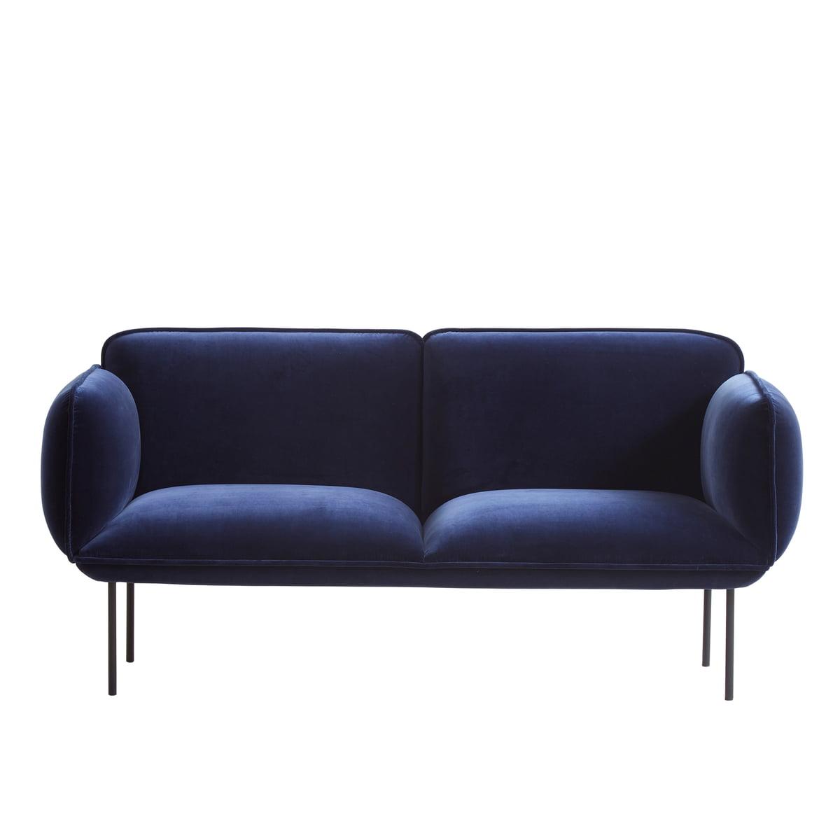 Woud nakki sofa 2 sitzer dunkelblau harald 2 182 1zu1