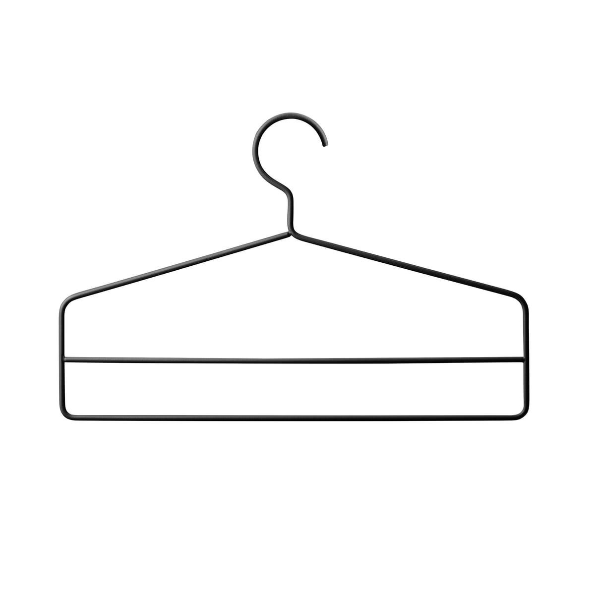 String - Kleiderbügel, schwarz (4er-Set)   Flur & Diele > Garderoben > Kleiderbügel   String