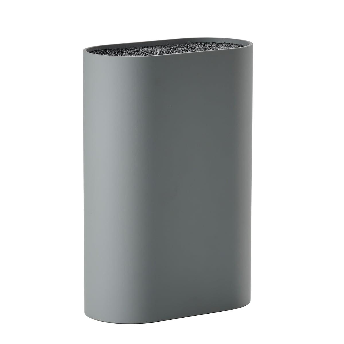 Zone Denmark - Messerblock, L 17 x W 9 cm, cool grey | Küche und Esszimmer > Küchen-Zubehör > Halter und Haken | Grau | Polypropylen -  tpr kunststoff | Zone