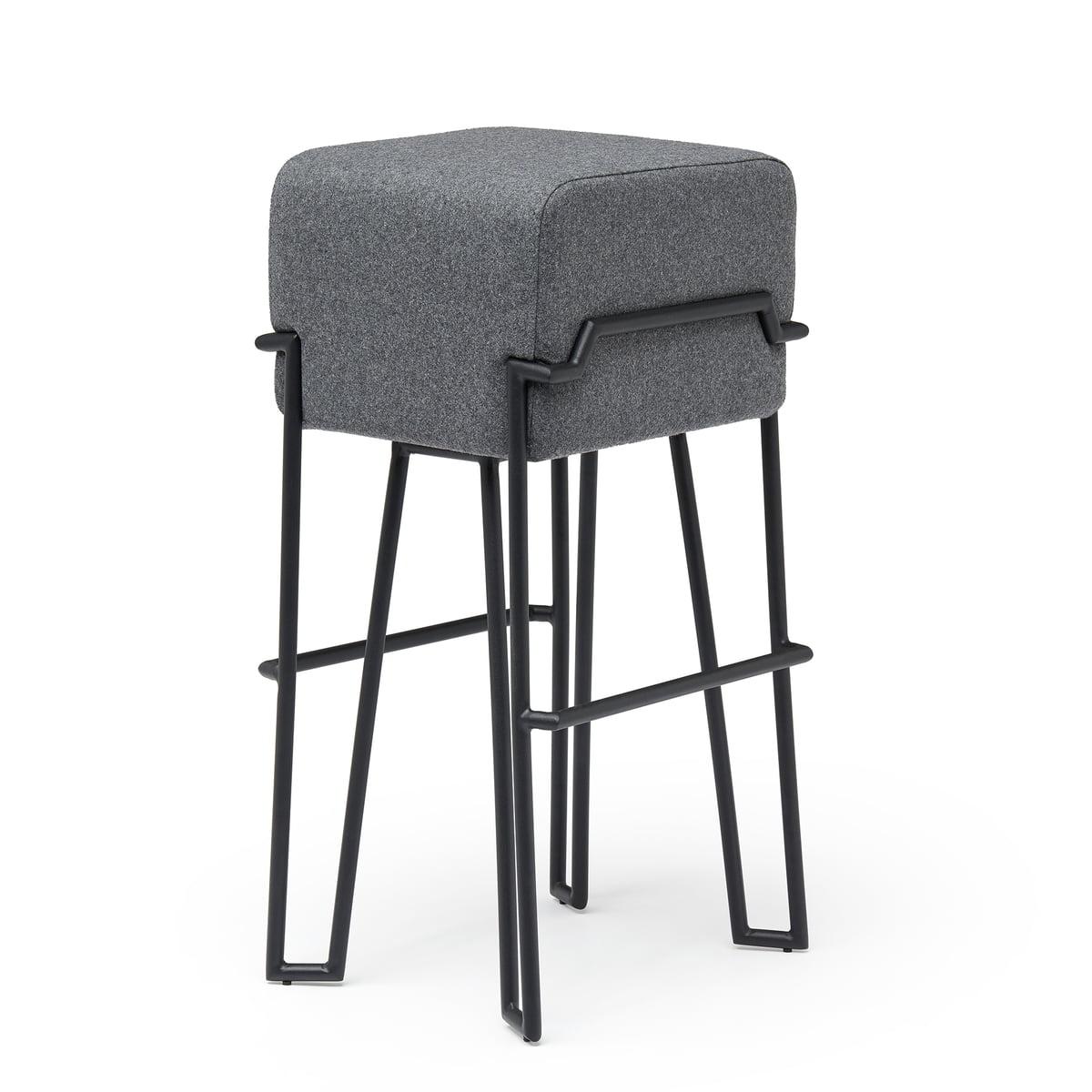 Puik - Bokk Barhocker H 76 cm, schwarz / grau | Küche und Esszimmer > Bar-Möbel > Barhocker | Grau | Filz | Puik