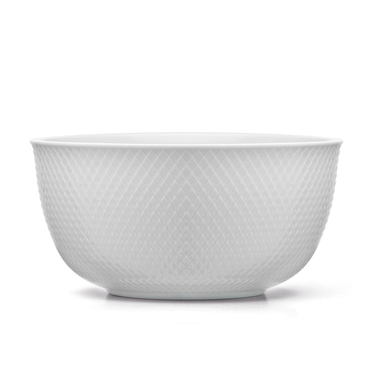 Lyngby porcelan rhombe schale 22cm weiss frei