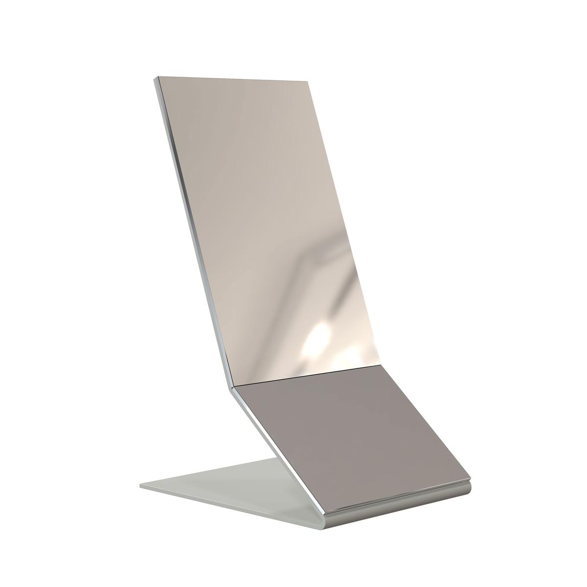 Frost - Unu Tischspiegel, Edelstahl gebürstet | Flur & Diele > Spiegel | Edelstahl gebürstet | Edelstahl | Frost