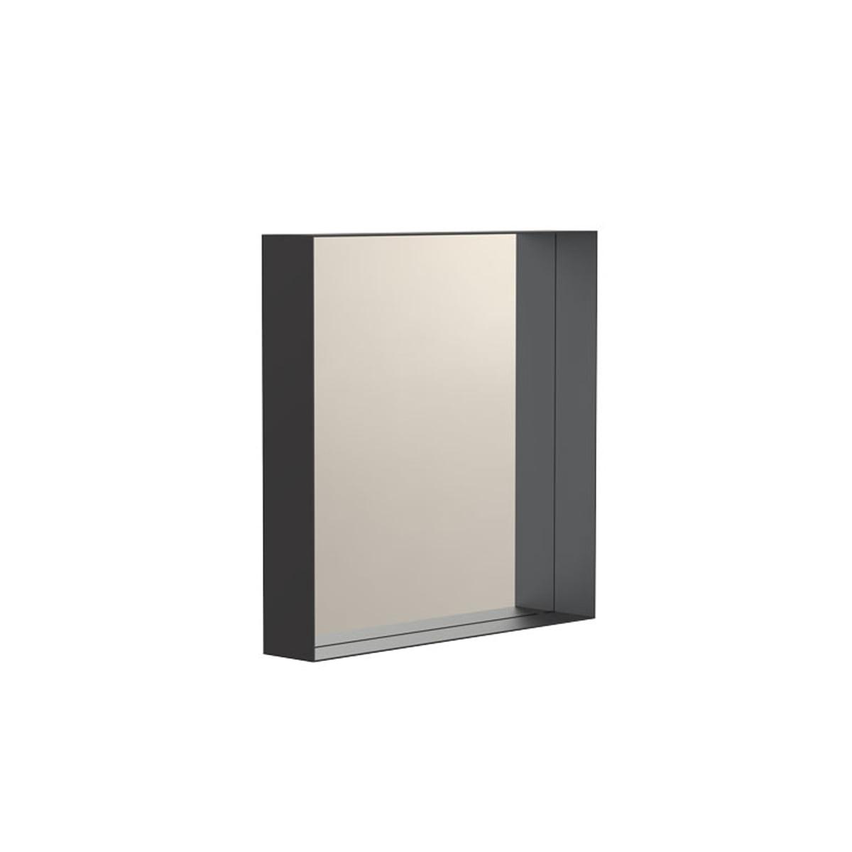 Frost - Unu Wandspiegel 4132 mit Rahmen, 40 x 40 cm, schwarz | Flur & Diele > Spiegel | Schwarz | Frost