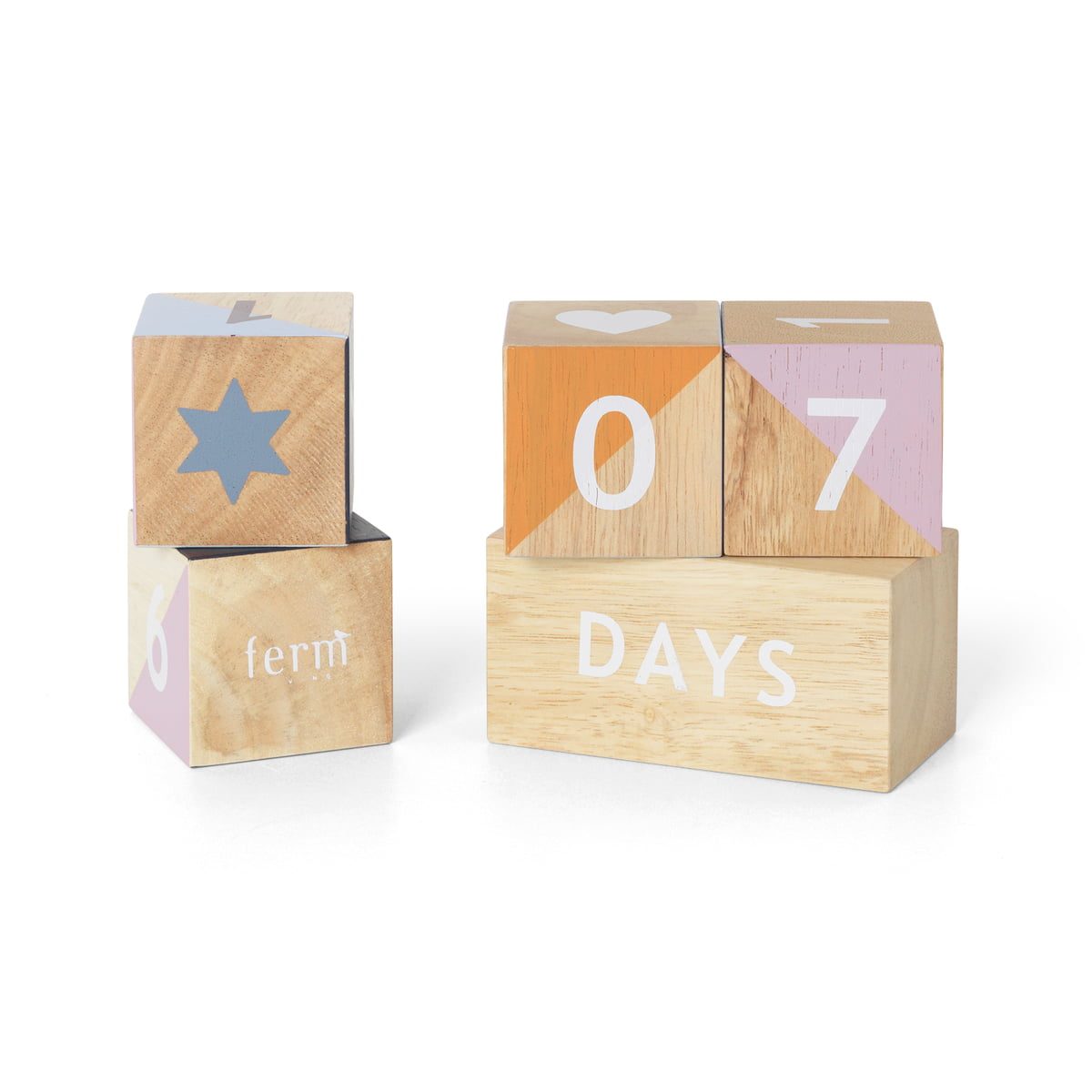 Ferm living wooden age blocks 7 tage