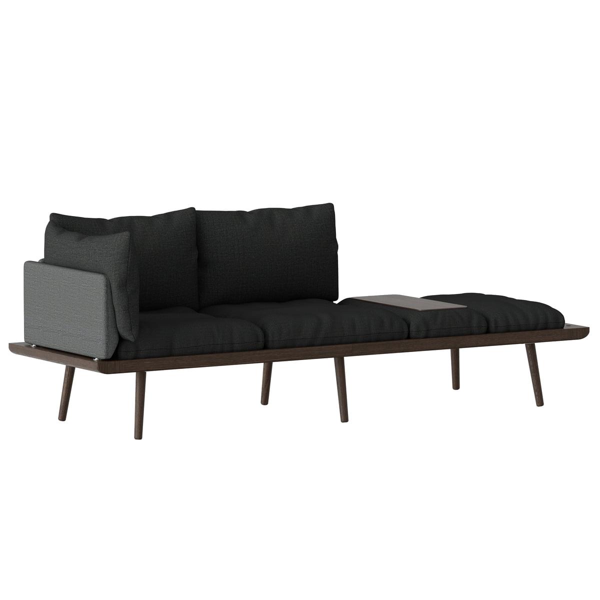 Umage lounge around 3 sitzer sofa eiche dunkel slate grey frei