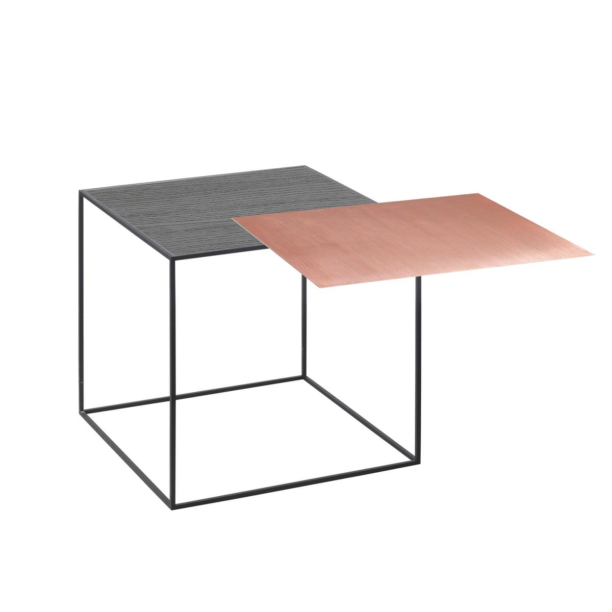 by Lassen - Twin 35 Beistelltisch, schwarzer Rahmen, Esche schwarz gebeizt / Kupfer | Wohnzimmer > Tische > Beistelltische | Schwarz | by Lassen