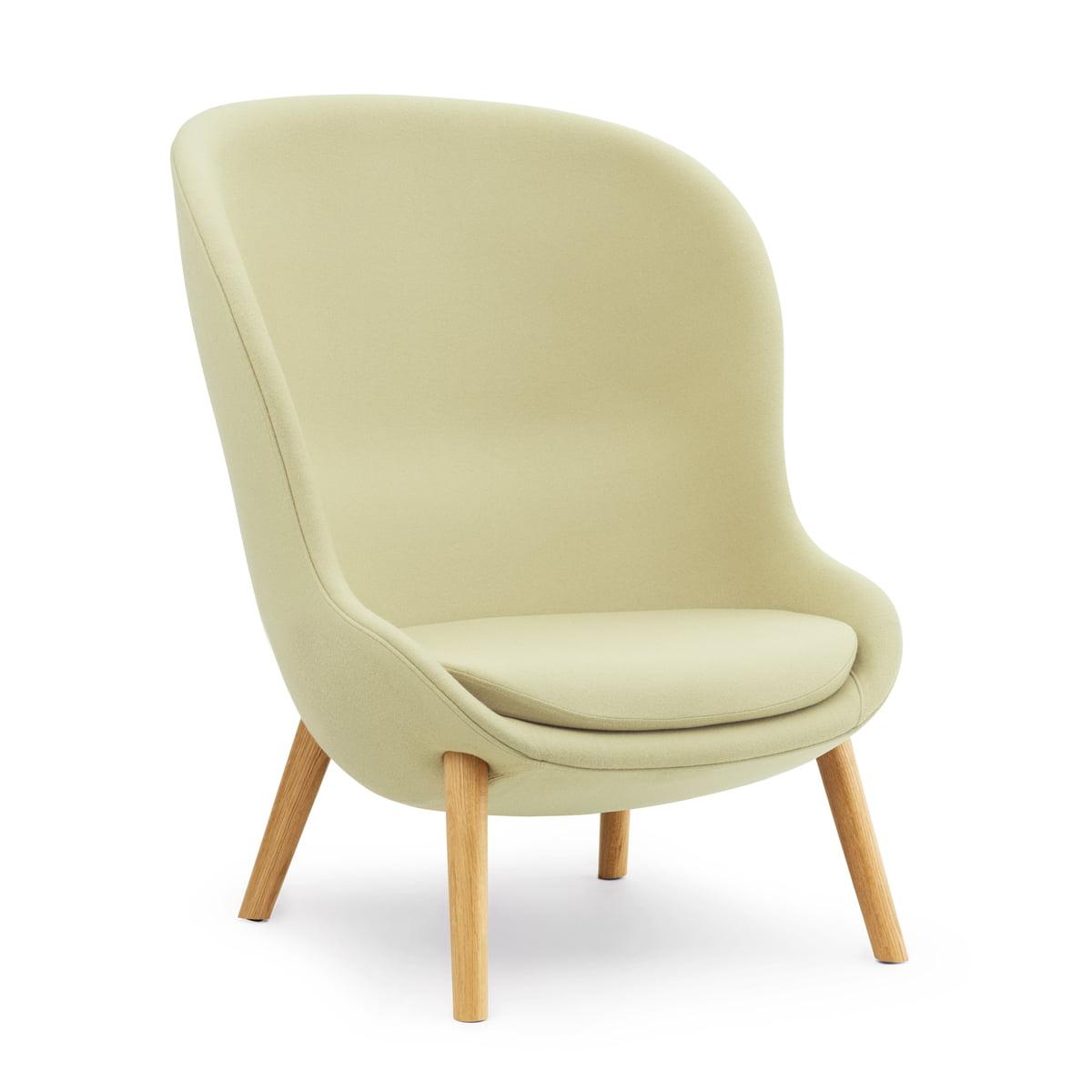 Normann Copenhagen - Hyg Lounge Chair High, Eiche / grün (Synergy LDS23)   Wohnzimmer > Sessel > Loungesessel   Grün   Normann Copenhagen