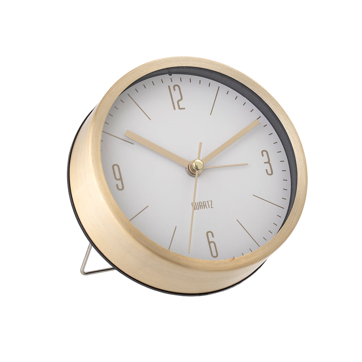 Bloomingville - Tischuhr, Ø 11,5 x 4 cm, gold / weiß | Dekoration > Uhren > Standuhren | Bloomingville