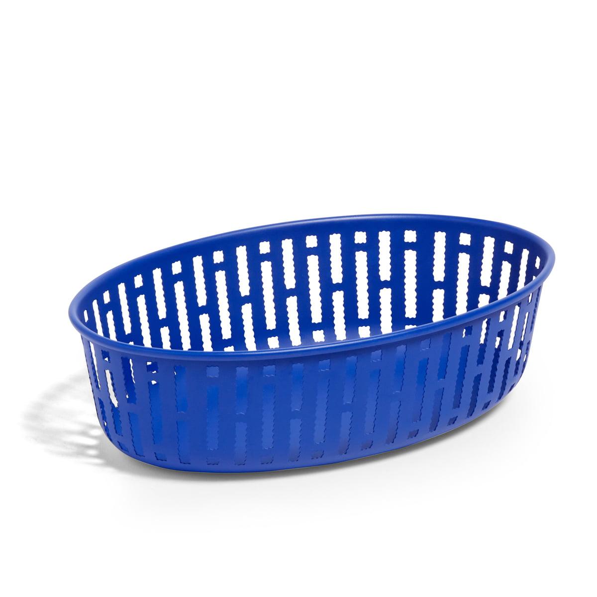 Hay - Panier Brotkorb Oval, bright blue | Küche und Esszimmer > Aufbewahrung | Blau | Stahl | Hay