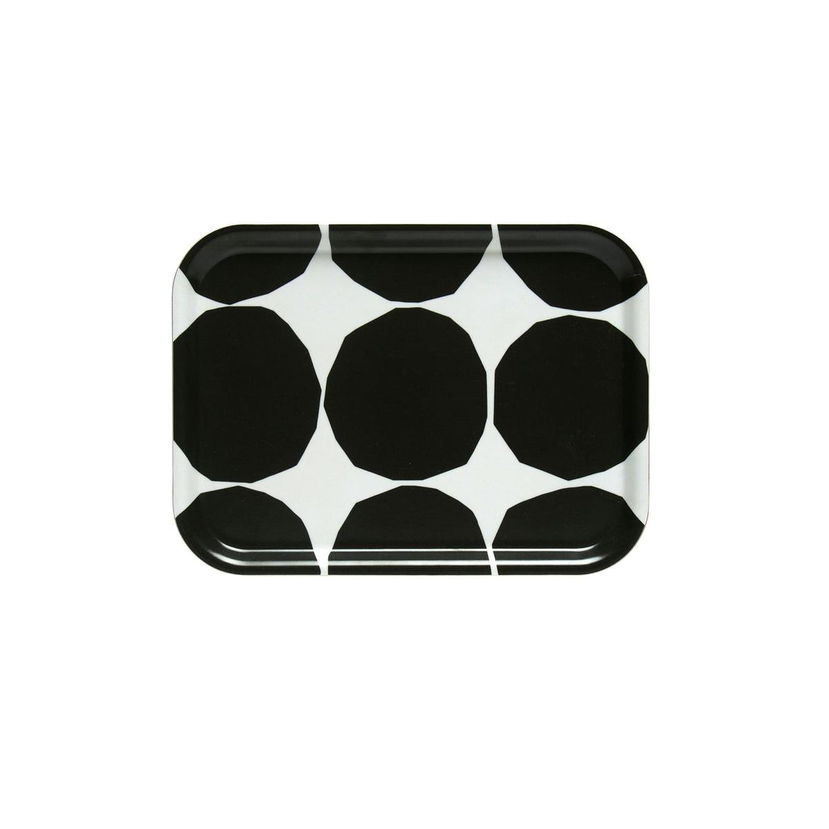 Marimekko - Kivet Tablett 27 x 20 cm, weiß / schwarz (Frühling/Sommer 2019)   Dekoration > Aufbewahrung und Ordnung   Schwarz/weiß   marimekko