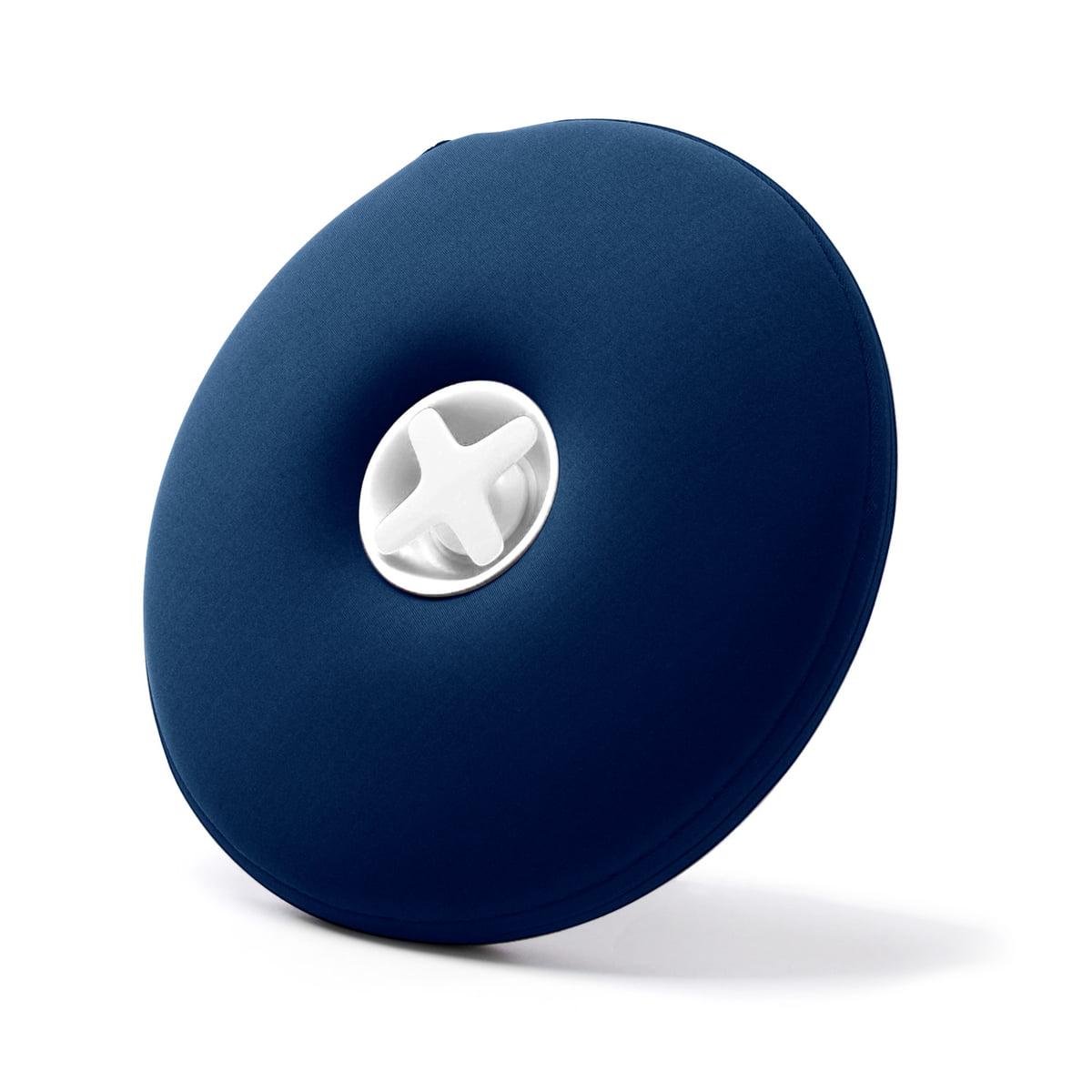 Authentics pill waermflasche blau weisse flasche