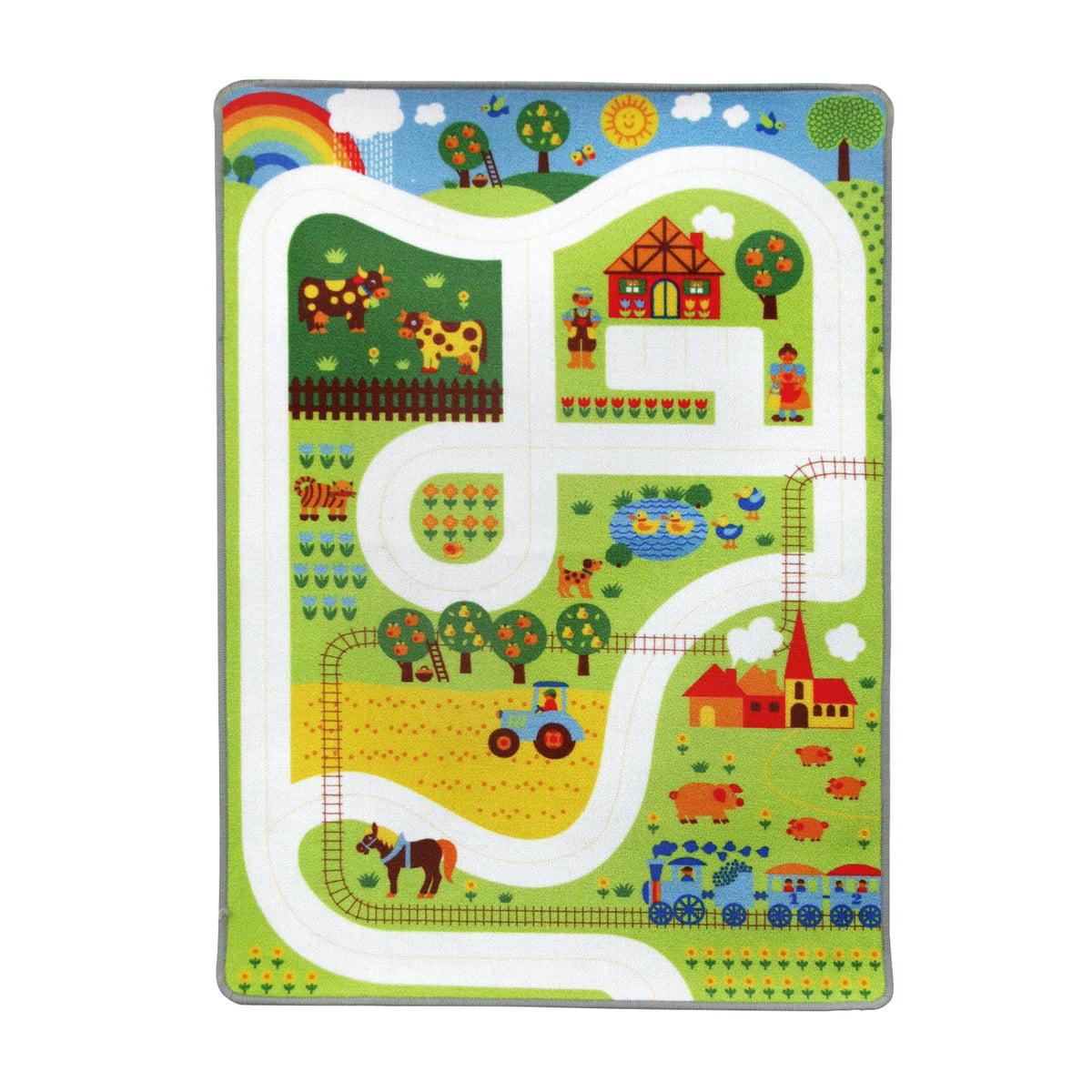 byGraziela - Spielteppich Bauernhof, 90 x 130 cm | Kinderzimmer > Textilien für Kinder > Kinderteppiche | Mehrfarbig | Vorderseite: 100 % polyamid / rückseite: latexrücken | byGraziela