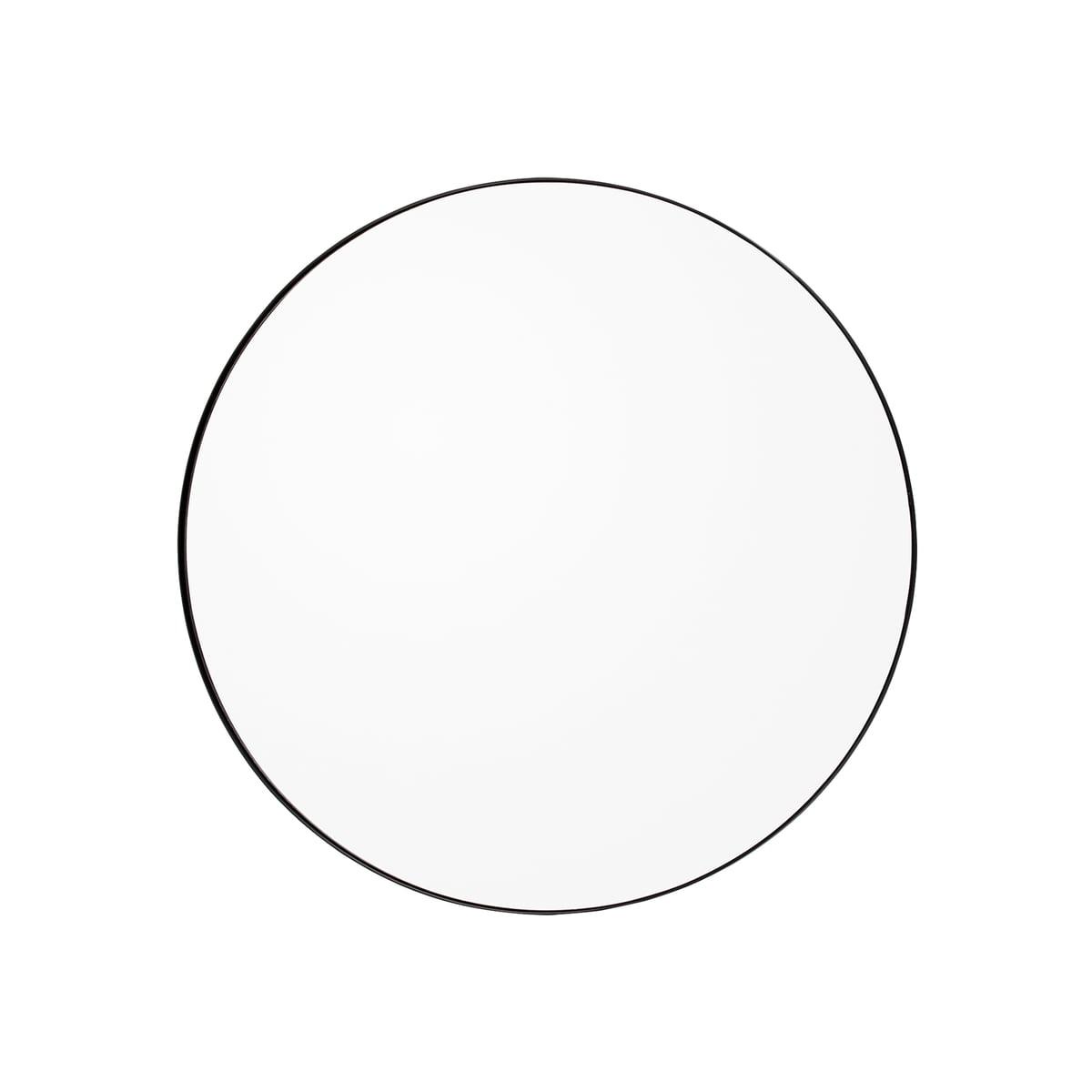 AYTM - Circum Wandspiegel medium, Ø 90 cm, schwarz / klar | Flur & Diele | Schwarz | AYTM
