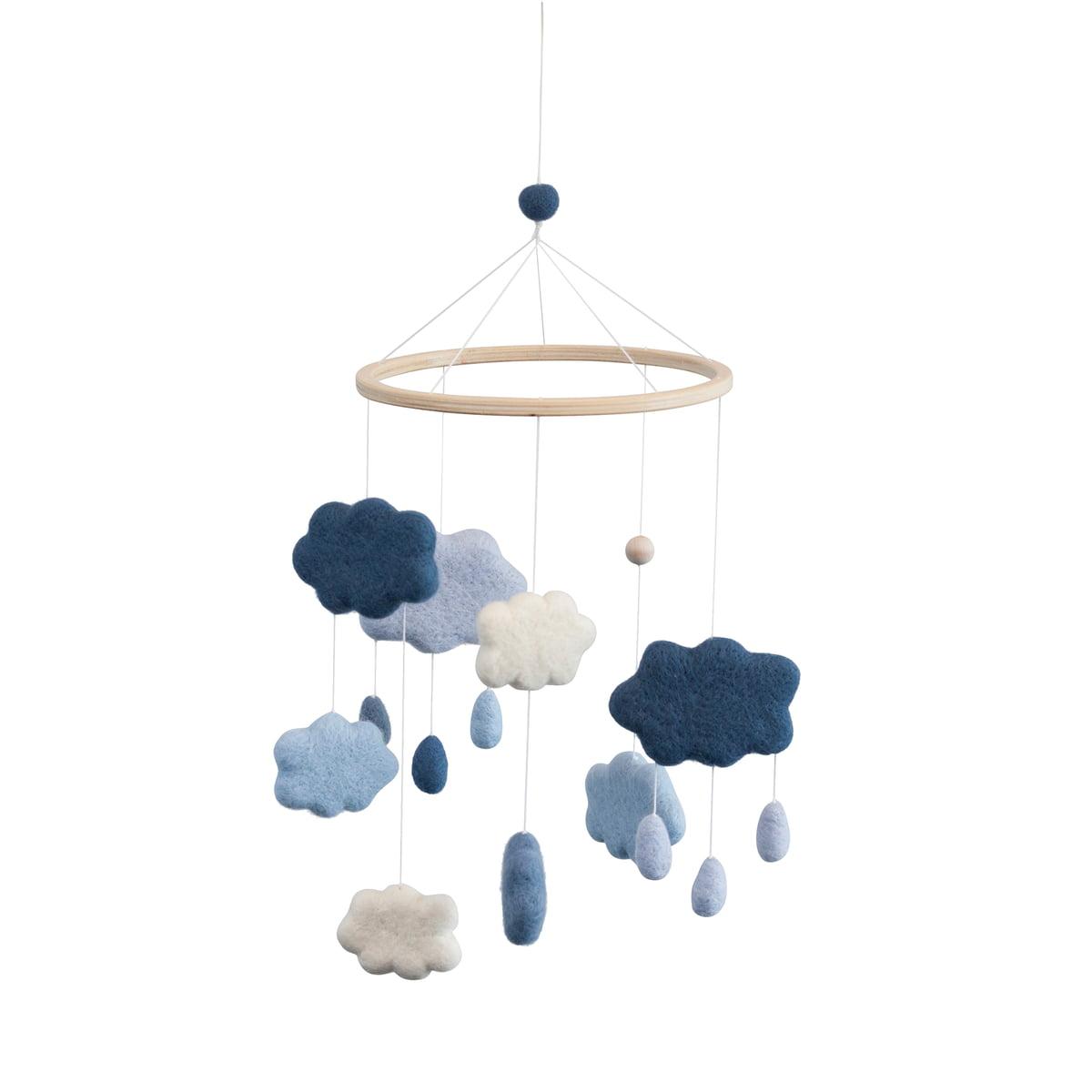 Sebra baby mobile wolken blau freisteller