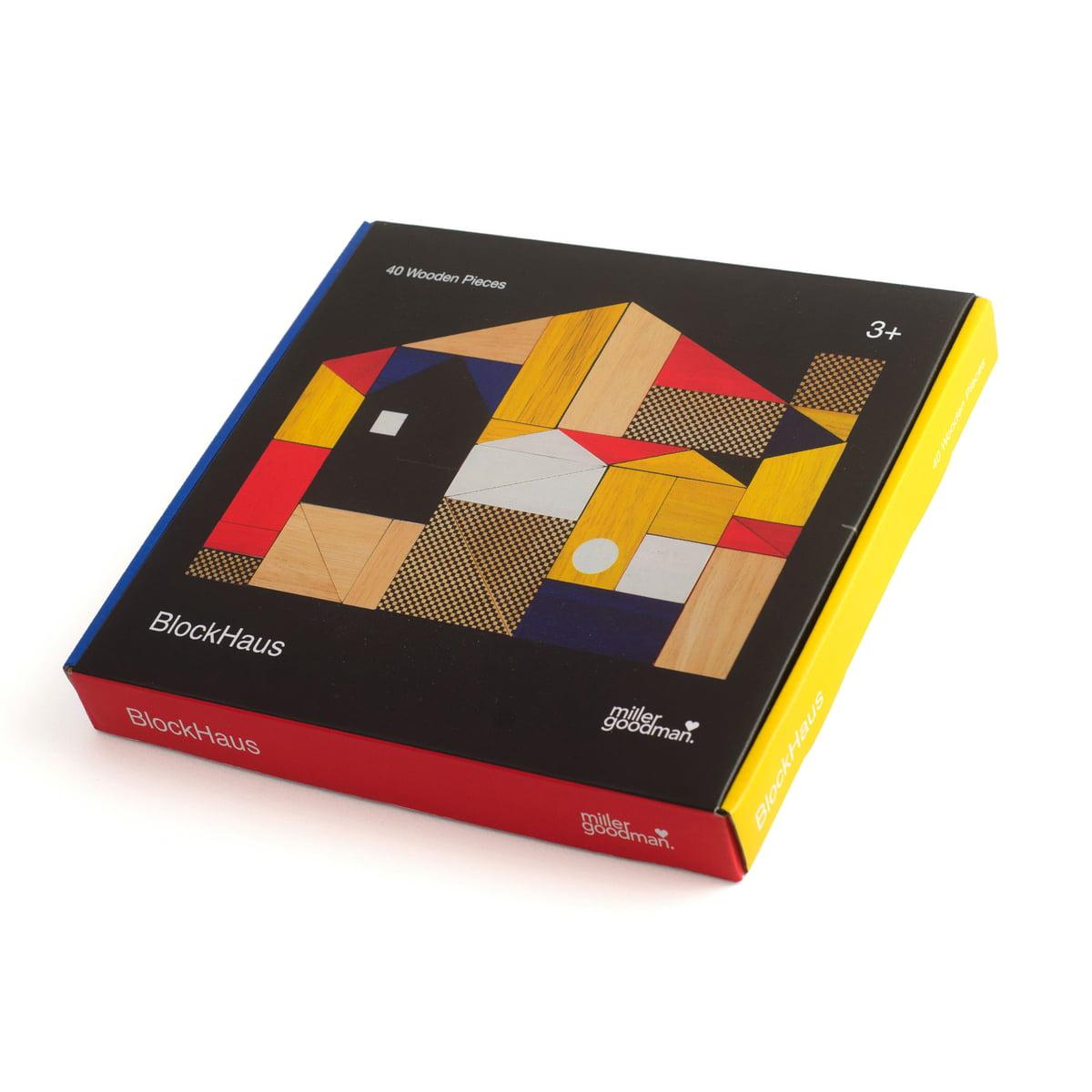 Miller Goodman - BlockHaus Holzspielzeug   Kinderzimmer > Spielzeuge > Holzspielzeuge   Verschiedene farben   Holz des gummi-/kautschukbaums   Miller Goodman