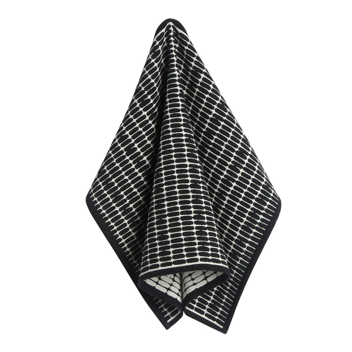 Marimekko - Alku Geschirrtuch, 47 x 70 cm, schwarz / ecru | Küche und Esszimmer > Küchentextilien | Marimekko