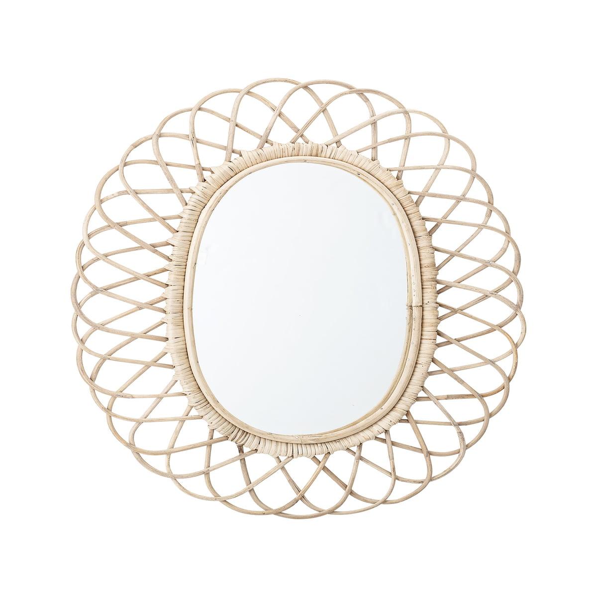 Bloomingville spiegel geflochten l 49 x h 53 cm einzel