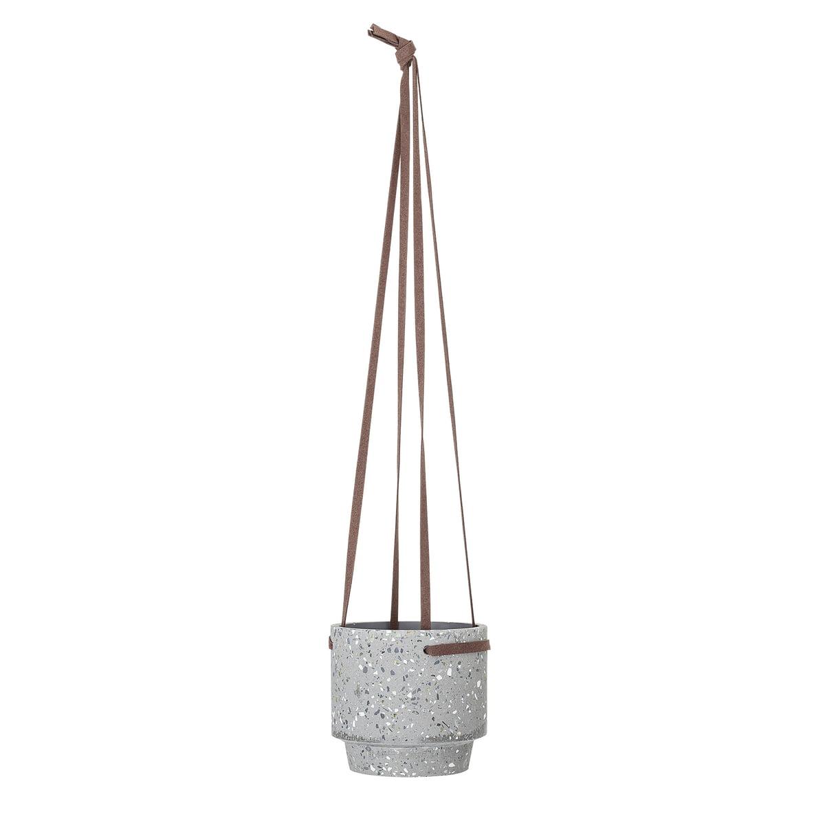 Bloomingville blumenampel 15 x h 13 cm beton einzel