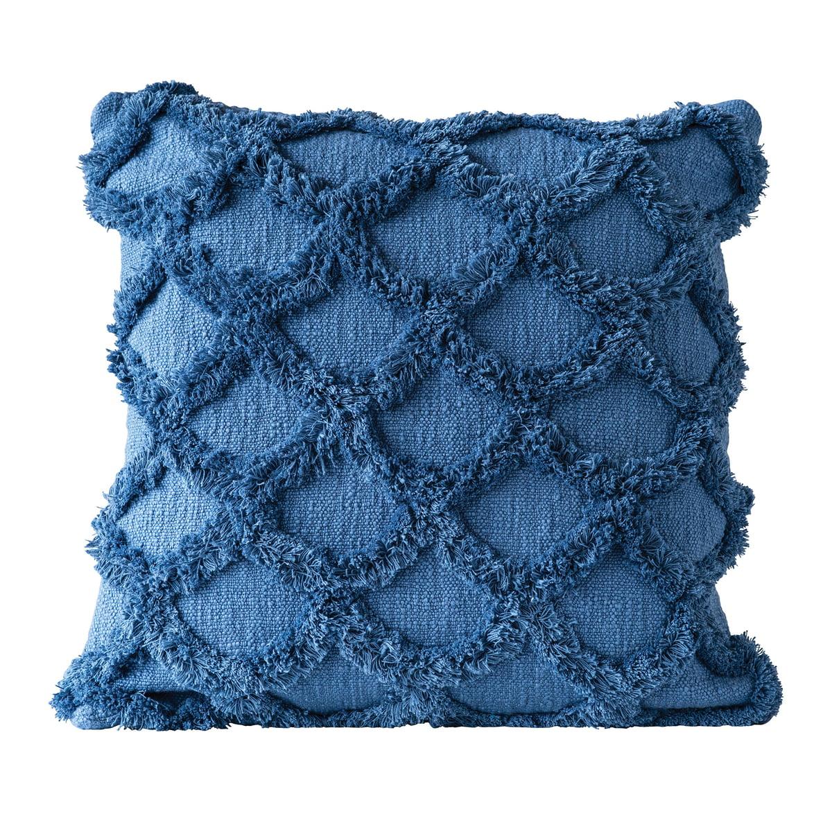 Bloomingville gathering kissen l 45 x w 45 cm blau einzel