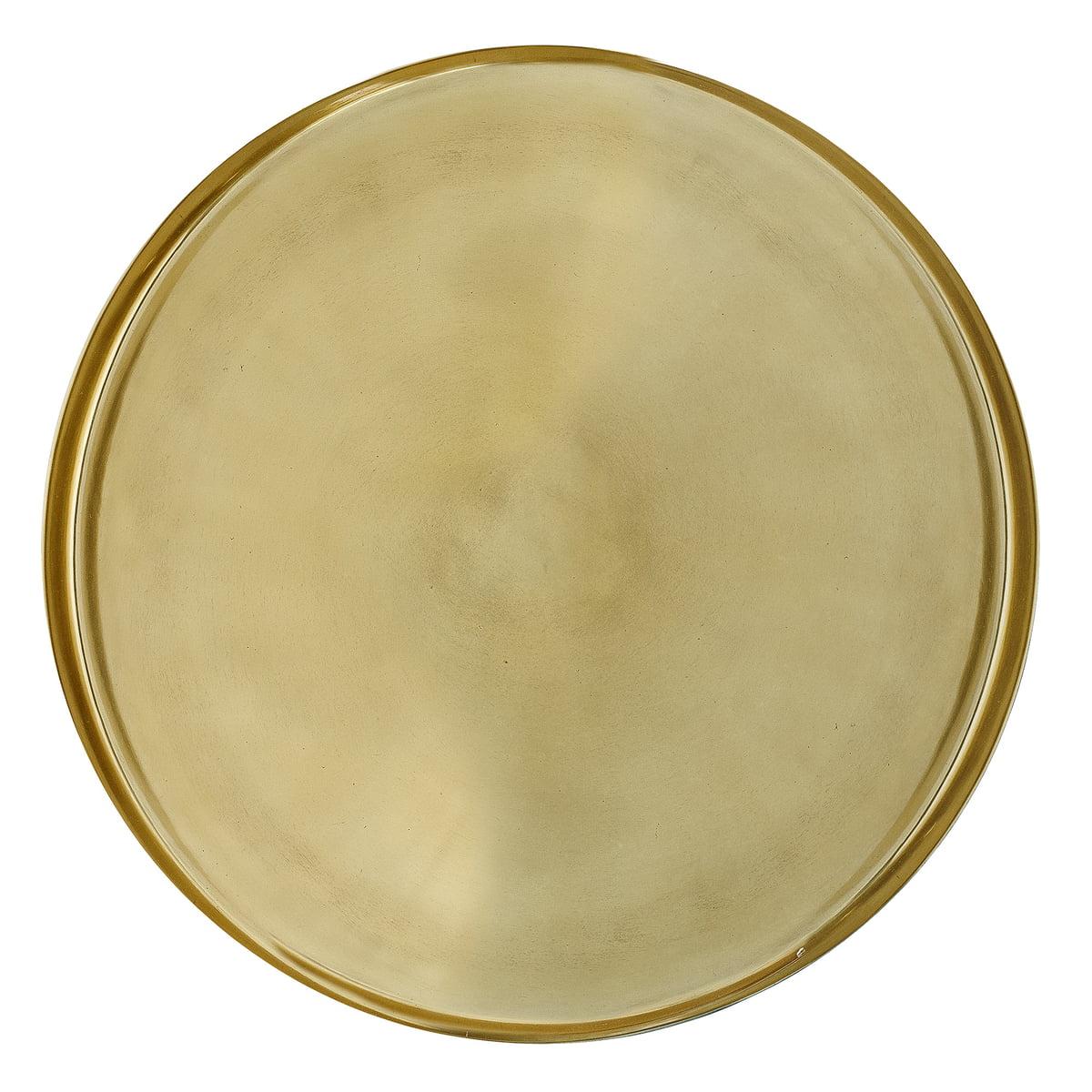 Bloomingville - Tablett, Ø 50 x H 2,5 cm, gold | Dekoration > Aufbewahrung und Ordnung > Schalen | Gold | Bloomingville