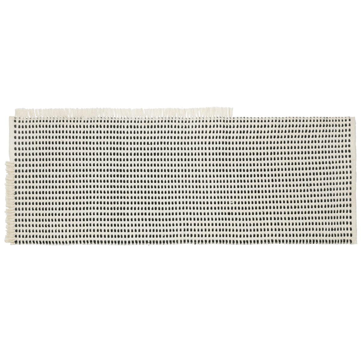 ferm Living - Way Outdoor Läufer, 180 x 70 cm, off-white / blau | Heimtextilien > Teppiche > Läufer | Blau/weiß | ferm living
