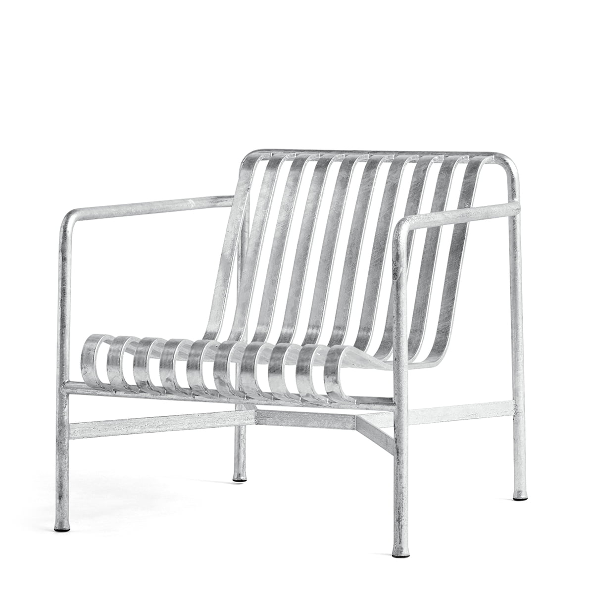 Hay - Palissade Lounge Chair low, hot galvanised   Wohnzimmer > Sessel > Loungesessel   Galvanisierter stahl   Hay