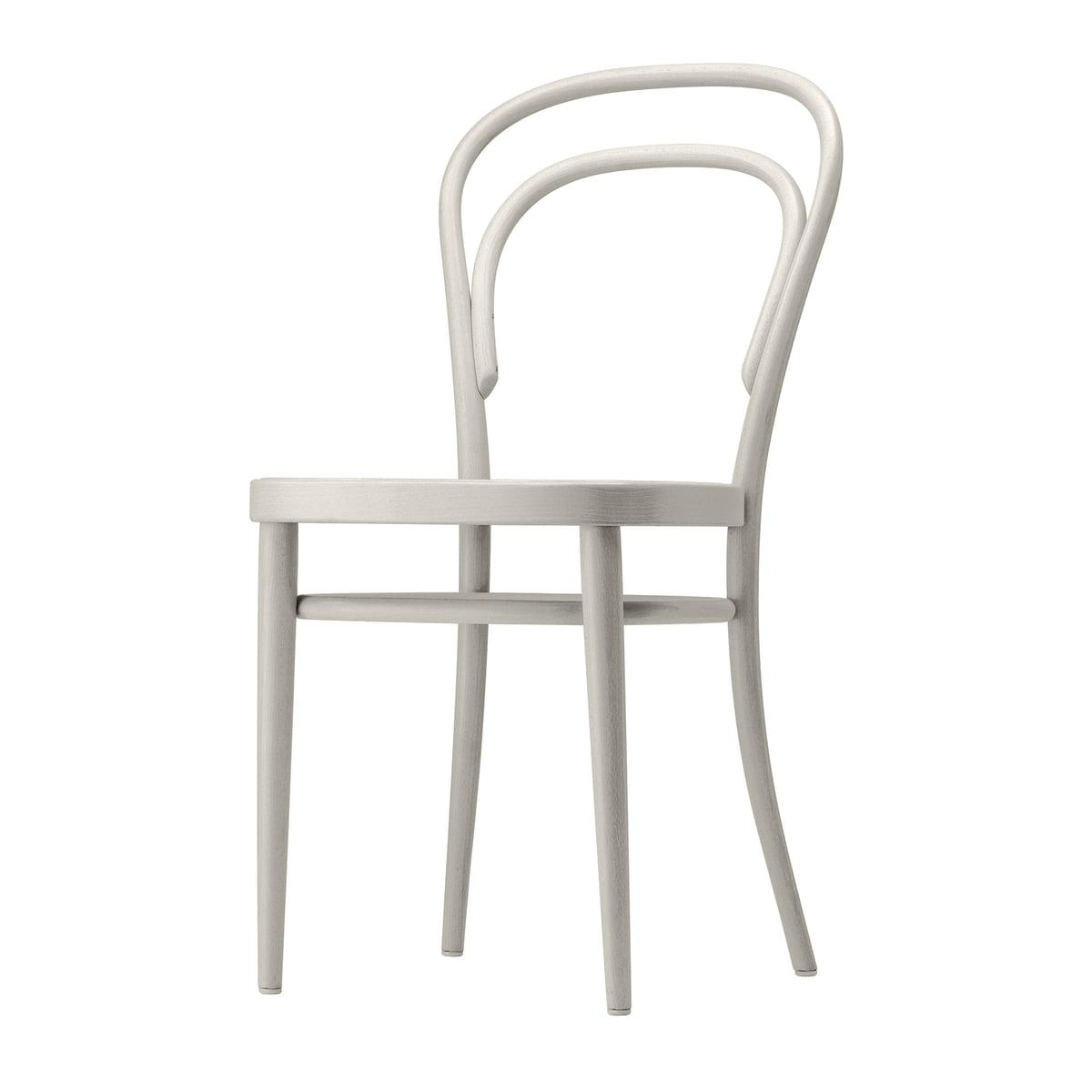Thonet - 214 M Bugholzstuhl, Muldensitz Formsperrholz / Buche weiß lasiert (TP 200) | Küche und Esszimmer > Stühle und Hocker > Holzstühle | Weiß | Thonet