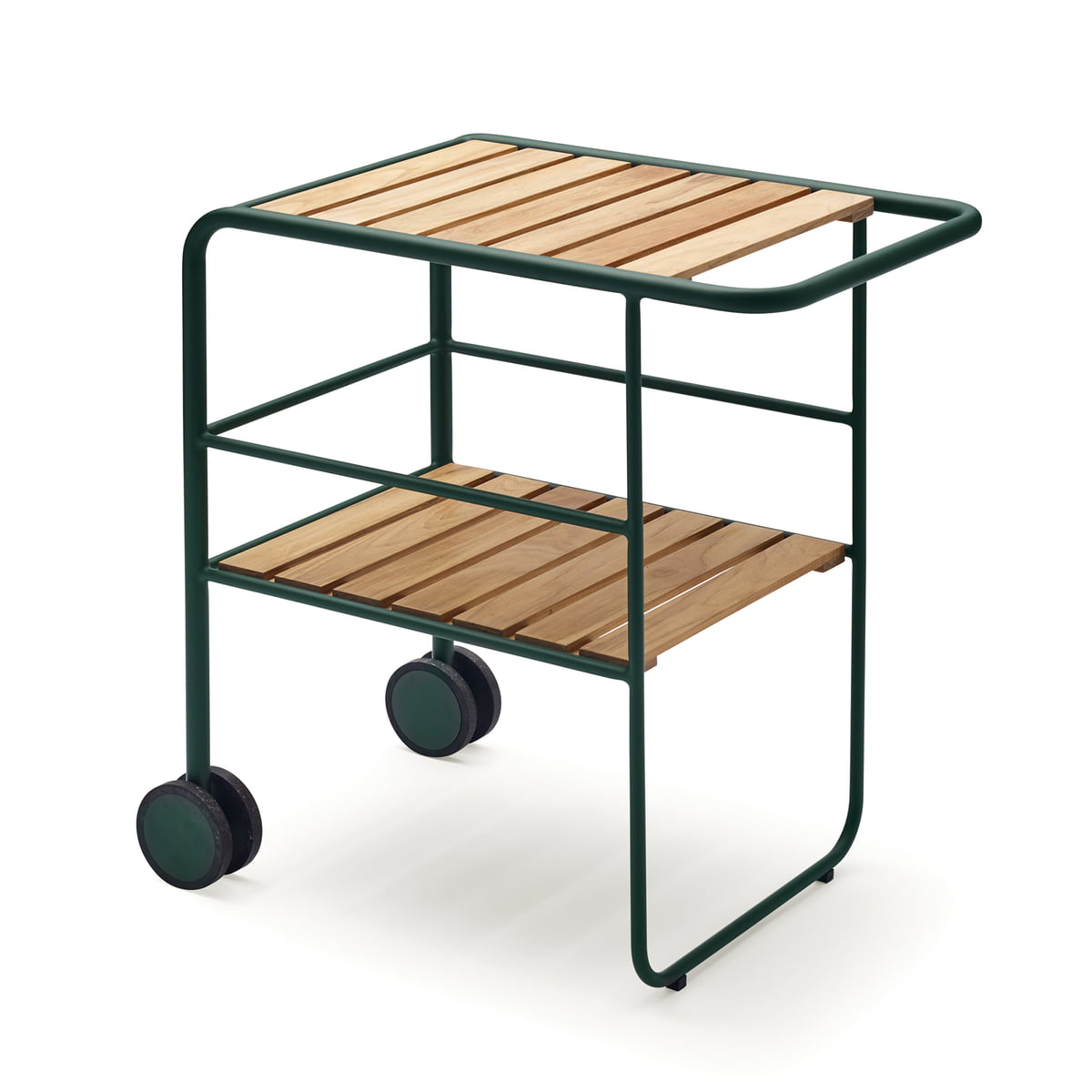Skagerak - Fuori Servierwagen, jagdgrün / Teakholz | Küche und Esszimmer > Servierwagen | Jagdgrün | Aluminum -  teakholz | Skagerak