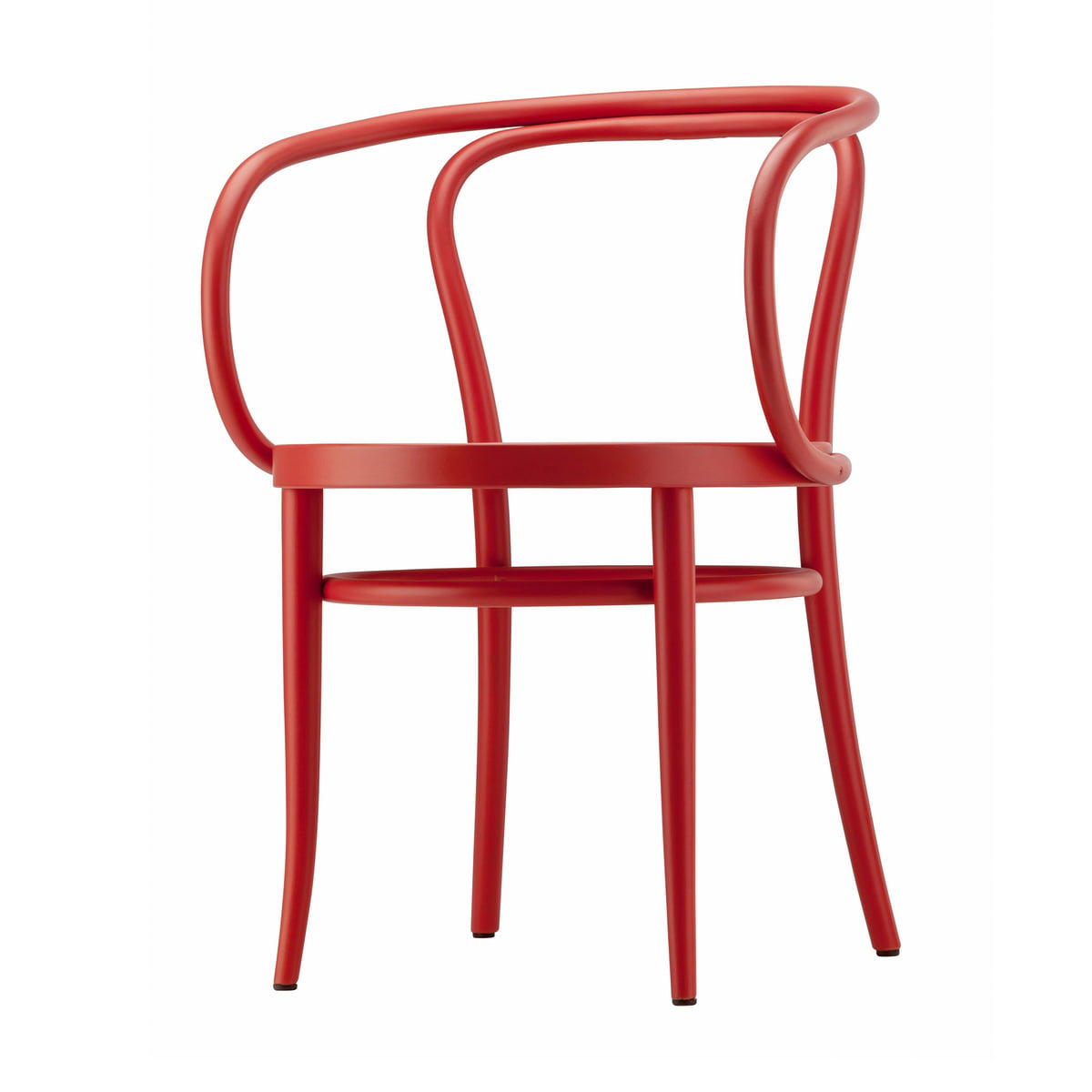 Thonet - 209 Bugholzstuhl, Rohrgeflecht mit Kunststoffstützgewebe / Buche rostrot gebeizt (TP 239) | Küche und Esszimmer > Stühle und Hocker > Holzstühle | Rot | Thonet