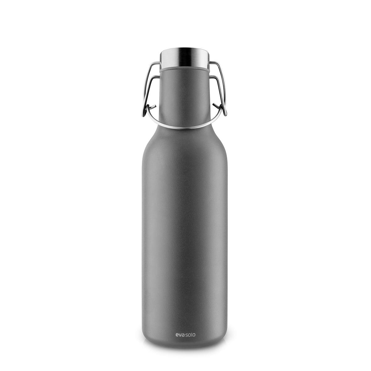 Eva Solo - Cool Isolierflasche 0,7 l, dunkelgrau | Küche und Esszimmer > Besteck und Geschirr > Kannen und Wasserkessel | Dunkelgrau | Stahl pulverbeschichtet -  silikon | Eva Solo