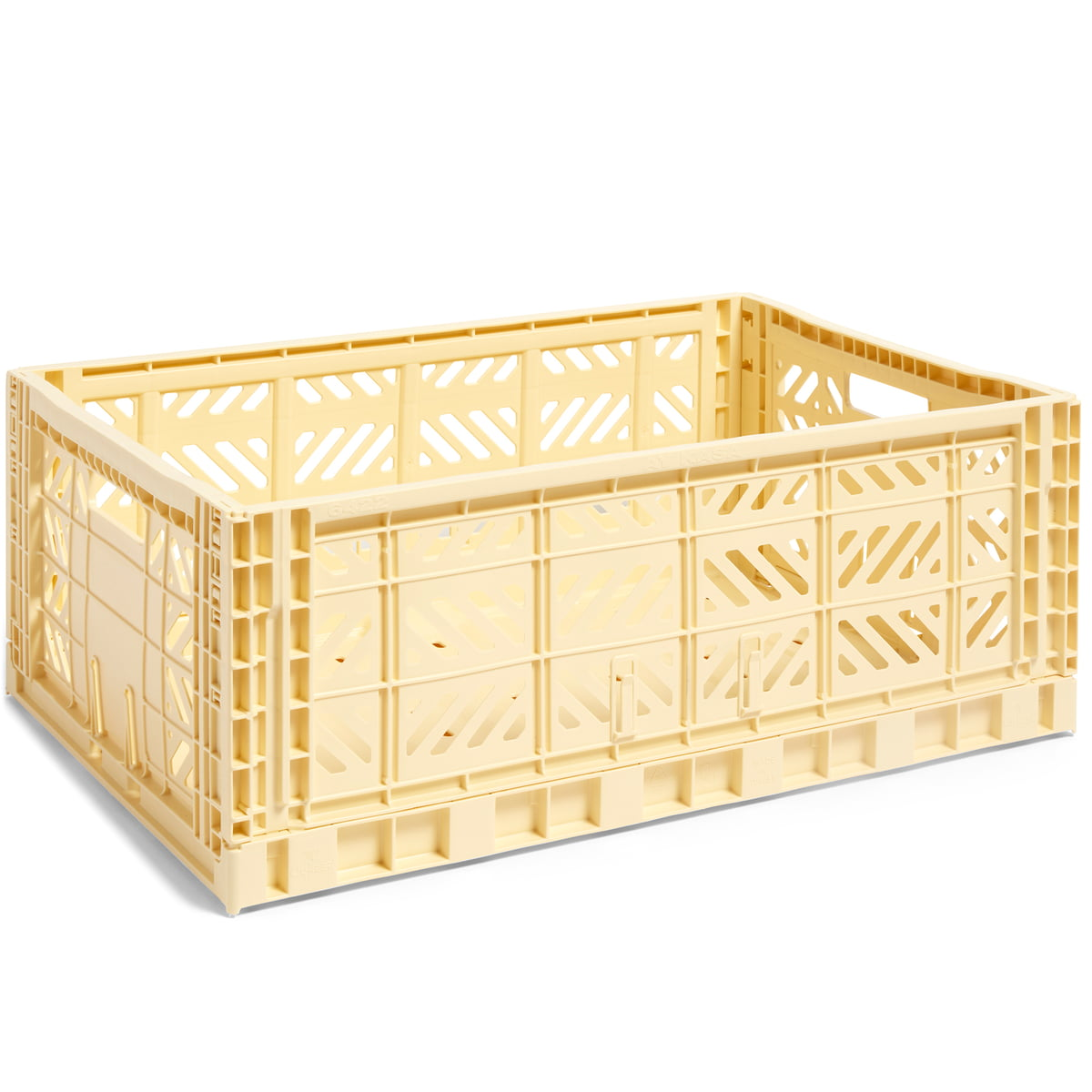 Hay colour crate korb l 60 x 40 cm hellgelb frei