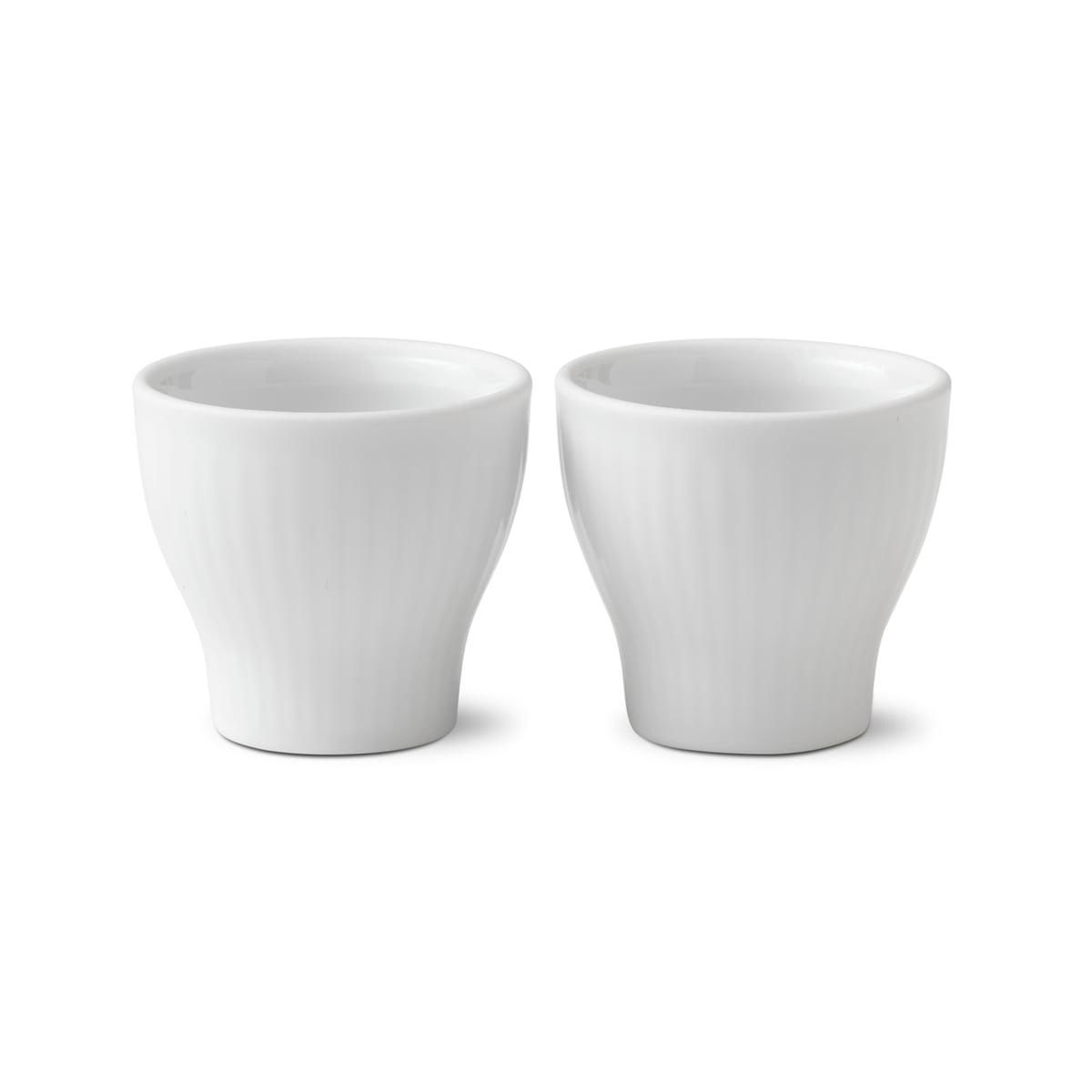 Royal Copenhagen - Weiß Gerippt Eierbecher (2er-Set) | Küche und Esszimmer > Besteck und Geschirr > Geschirr | Weiß | Porzellan | Royal Copenhagen