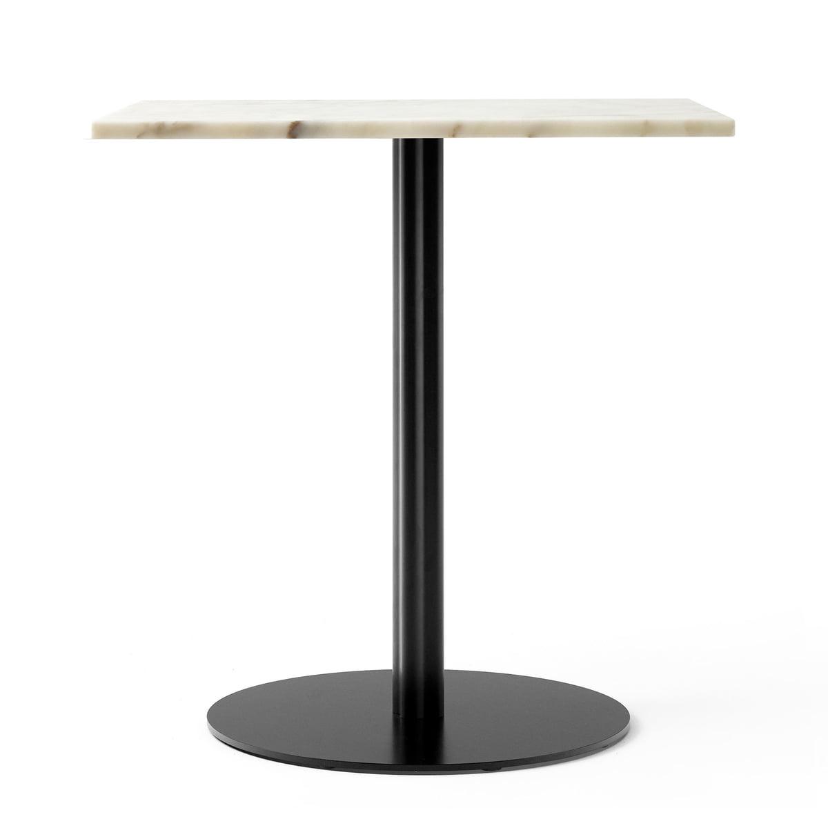 Menu - Harbour Column Bistrotisch 70 x 60 cm, Marmor weiß / schwarz | Küche und Esszimmer > Bar-Möbel > Bar-Stehtische | Marmor | Menu