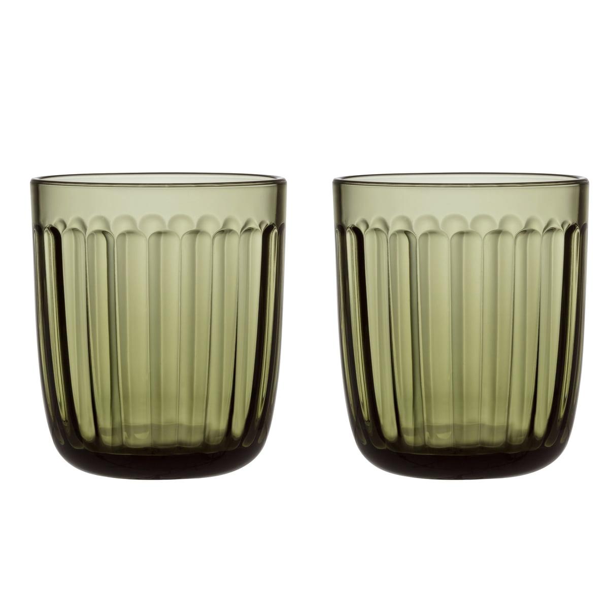 Iittala - Raami Trinkglas 26 cl, moosgrün (2er-Set) | Küche und Esszimmer > Besteck und Geschirr > Gläser | Iittala