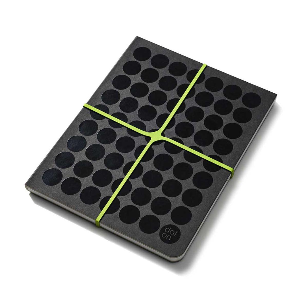 dot on - notes Notizbuch, Gummiband grün | Dekoration > Accessoires | Verschiedene farben | 96 seiten 90 g/qm offsetpapier mit dotty-punkteraster | dot on