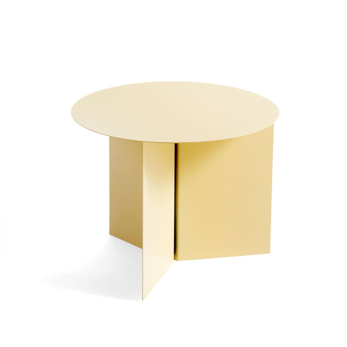 Hay slit table round 45 x 35 5 cm hellgelb frei
