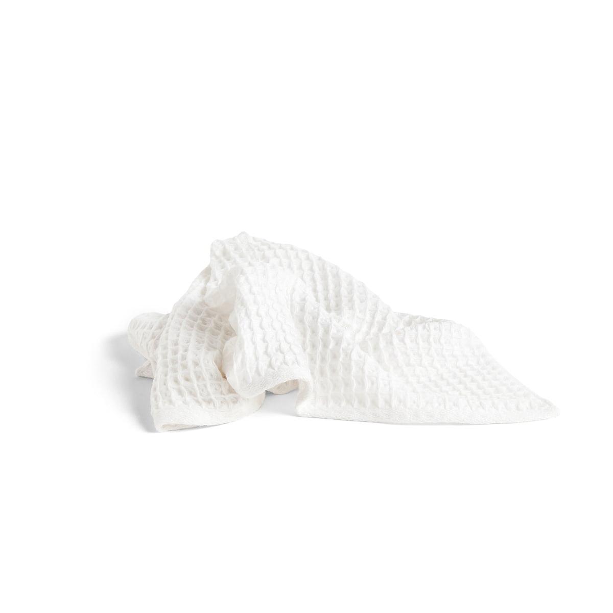 Hay - Giant Waffle Handtuch, 100 x 50 cm, weiß | Bad > Handtücher > Handtuch-Sets | Weiß | Baumwolle | Hay