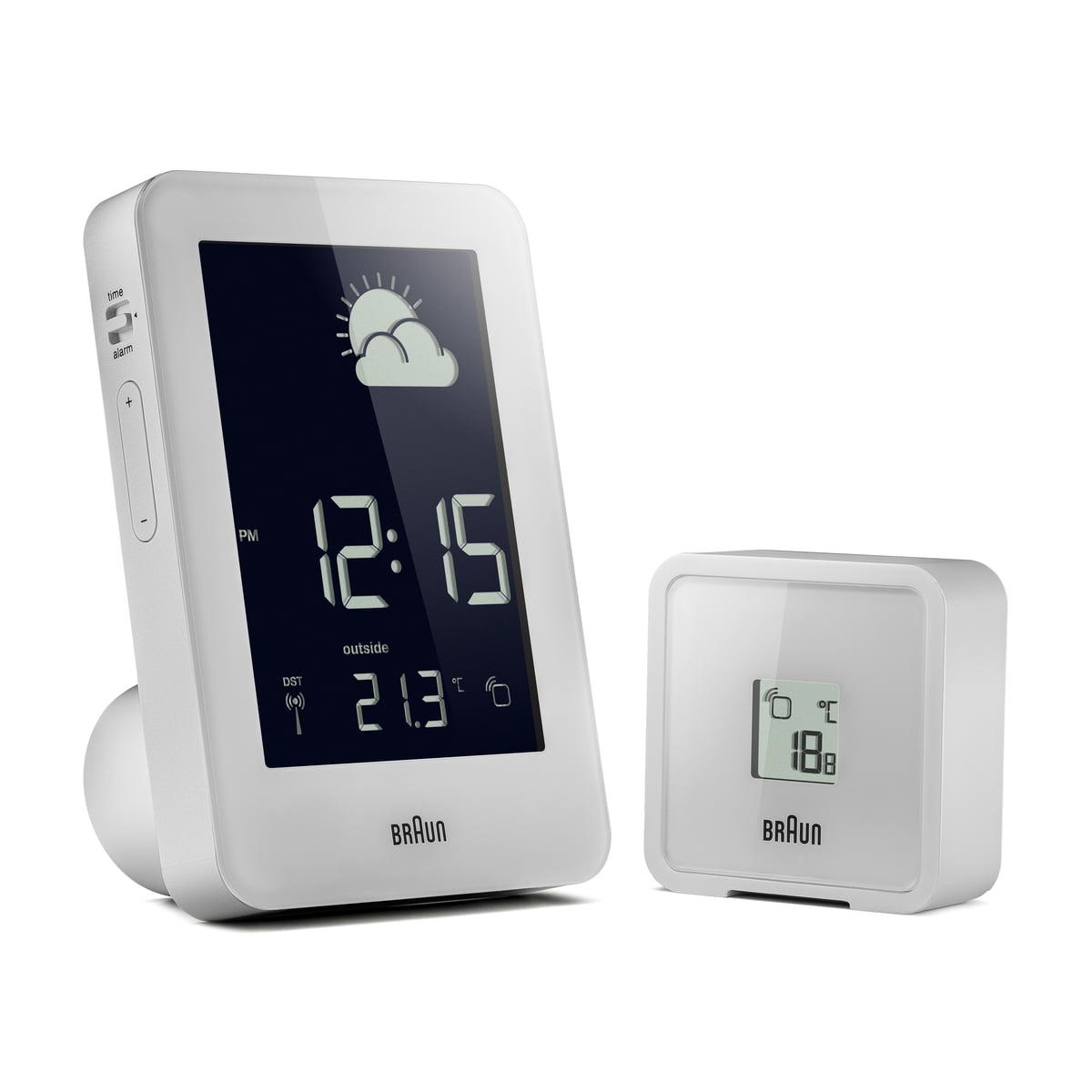 Braun - Funk-Wetterstation, weiß | Baumarkt > Heizung und Klima > Klimageräte | Weiß | Braun