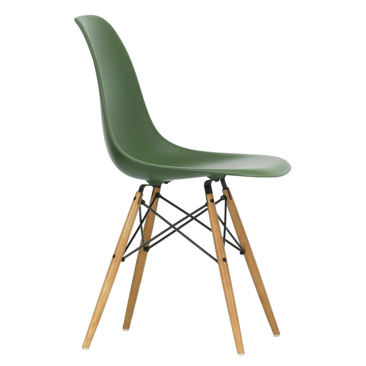 Vitra - Eames Plastic Side Chair DSW, Ahorn gelblich / forest (Filzgleiter weiß)   Küche und Esszimmer > Stühle und Hocker > Esszimmerstühle   Forest   Vitra