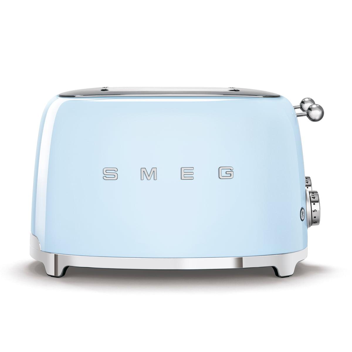Smeg - 4-Scheiben Toaster TSF03, pastellblau | Küche und Esszimmer > Küchengeräte | Pastellblau | Kugelgriff aus edelstahl -  gehäuse aus lackiertem edelstahl | Smeg