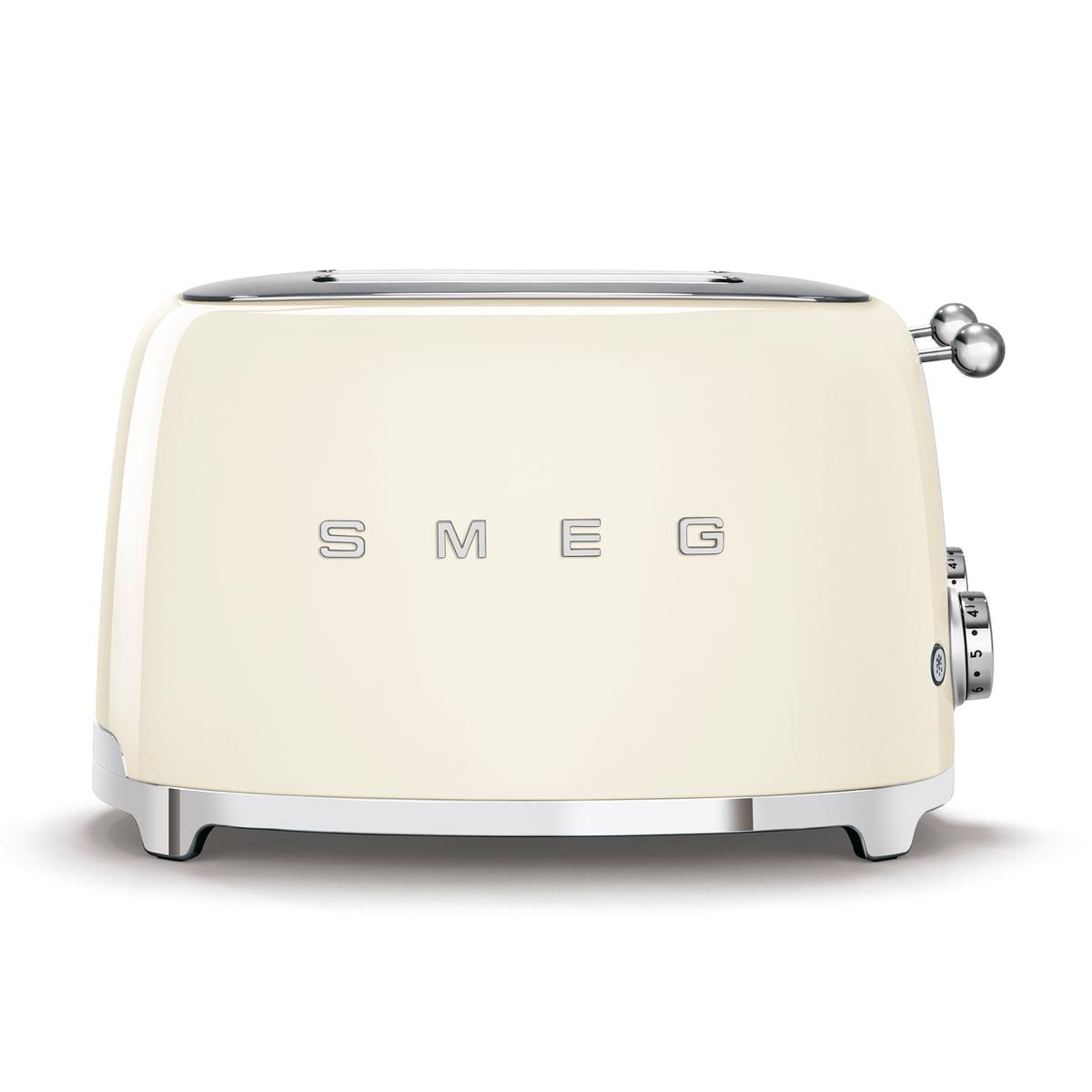 Smeg - 4-Scheiben Toaster TSF03, creme | Küche und Esszimmer > Küchengeräte > Toaster | Créme | Kugelgriff aus edelstahl -  gehäuse aus lackiertem edelstahl | Smeg