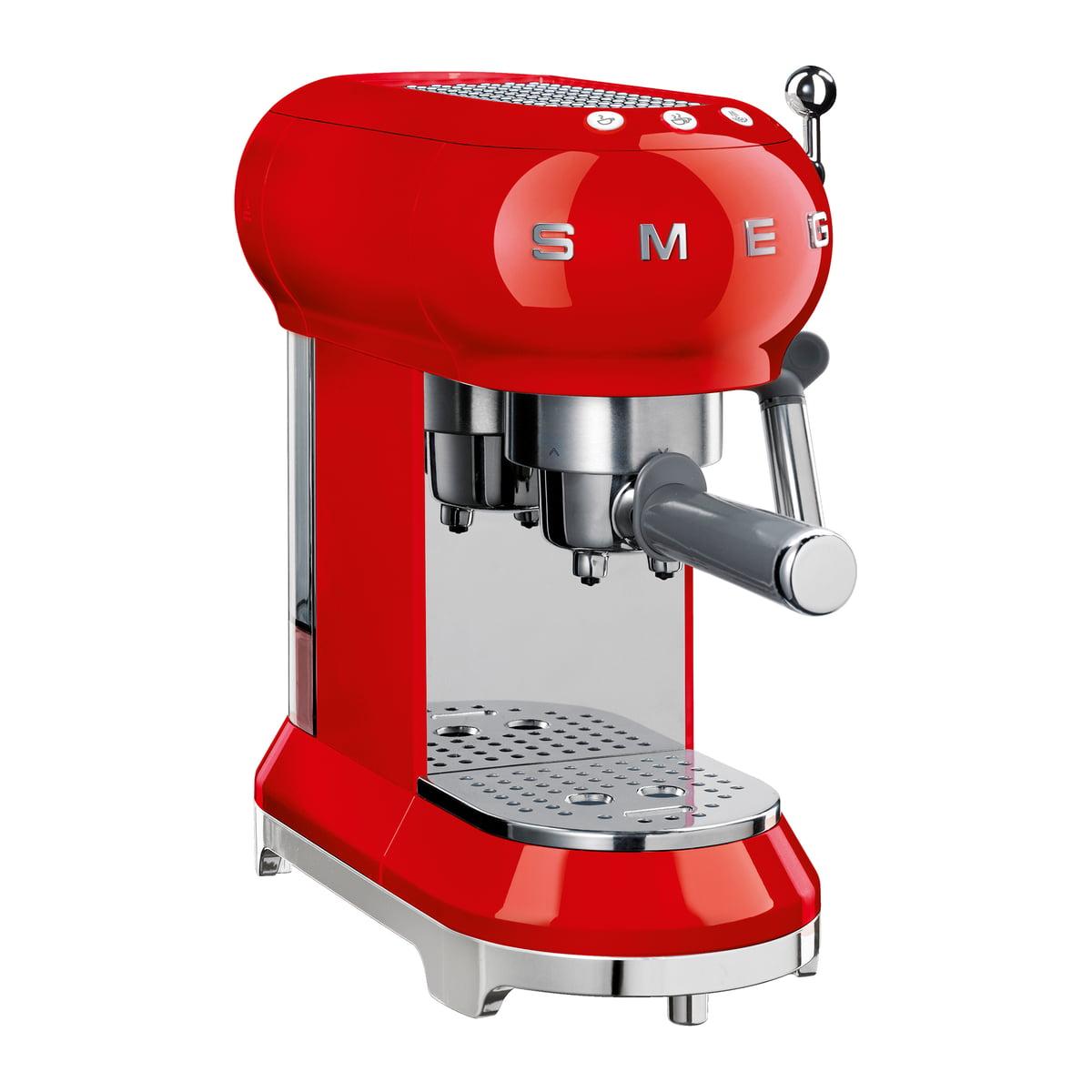 Smeg - Espresso Kaffeemaschine mit Siebträger ECF01, rot   Küche und Esszimmer > Kaffee und Tee > Kaffeemaschinen   Rot   Smeg