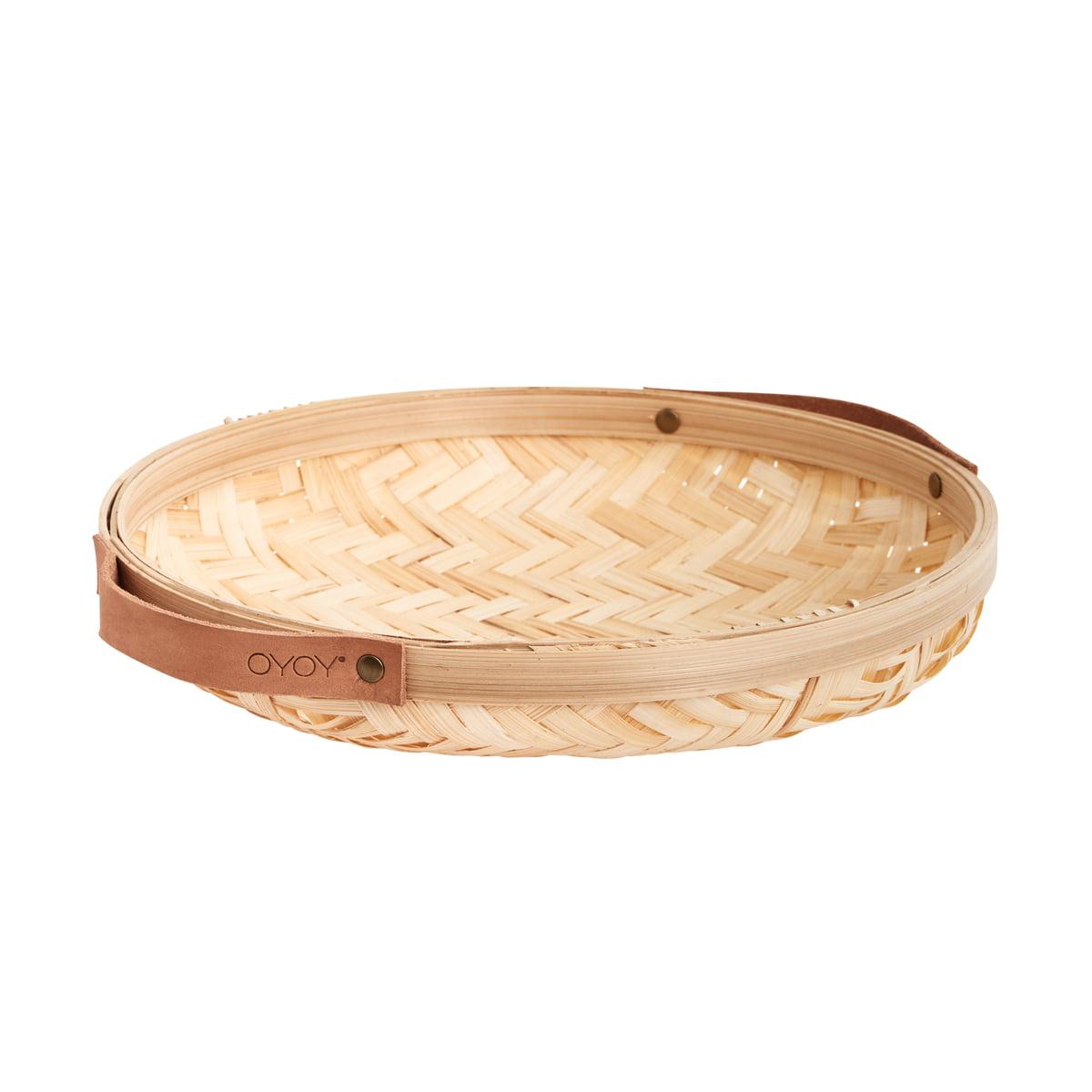 OYOY - Sporta Brotkorb, Ø 30 x 5,5 cm, Bambus natur | Küche und Esszimmer > Aufbewahrung > Brotkasten | OYOY
