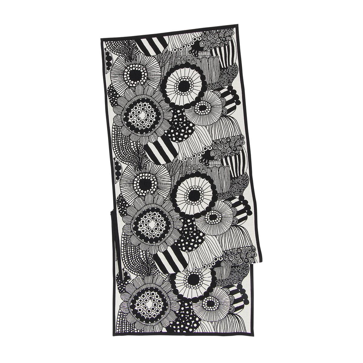 Marimekko - Pieni Siirtolapuutarha Tischläufer 47 x 150 cm| schwarz / weiß (Herbst/Winter 2019) | Heimtextilien > Tischdecken und Co | Marimekko