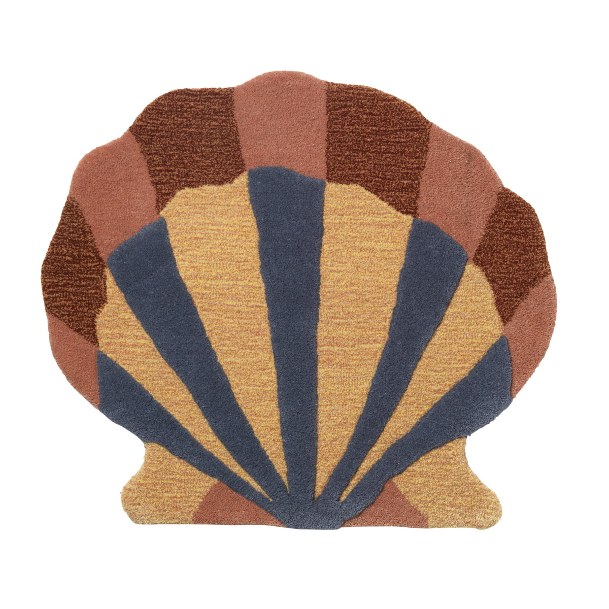 ferm Living - Kinderzimmer- / Wandteppich \´´Muschel\´´´´, multi´´   Kinderzimmer > Textilien für Kinder   Verschiedene farben   Front: 100% getuftete neuseelandwolle. rückseite: 100% baumwolle   ferm living
