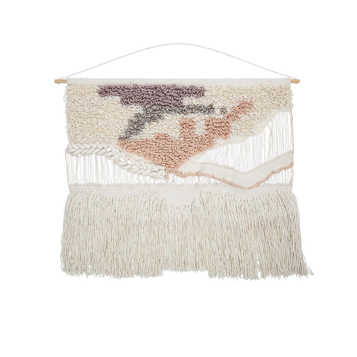 Bloomingville - Wanddekoration aus Wolle, H 95 x W 105 cm, natur   Dekoration > Wandtattoos   Bloomingville