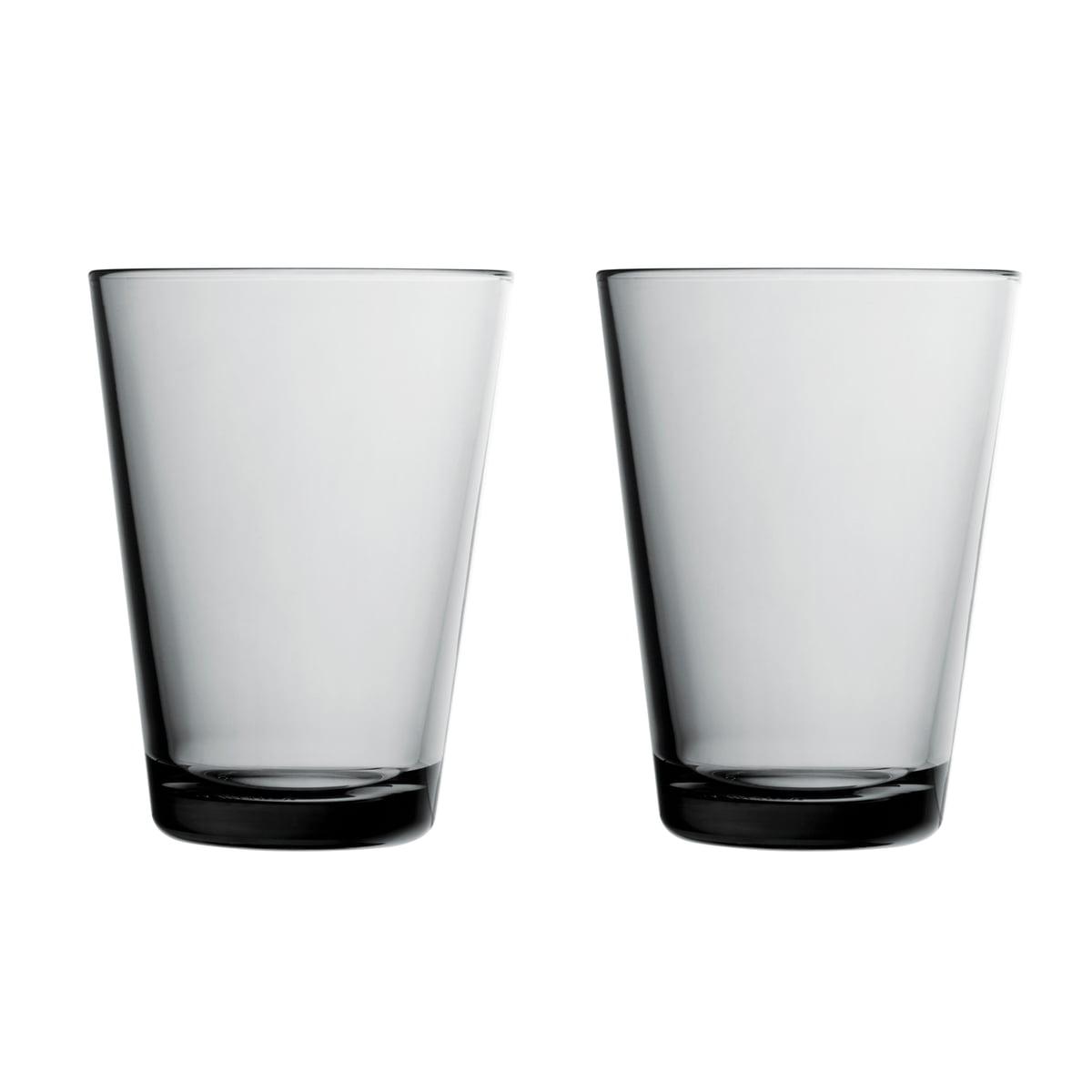 Iittala - Kartio Trinkglas 40 cl, grau (2er-Set) | Küche und Esszimmer > Besteck und Geschirr > Gläser | Iittala