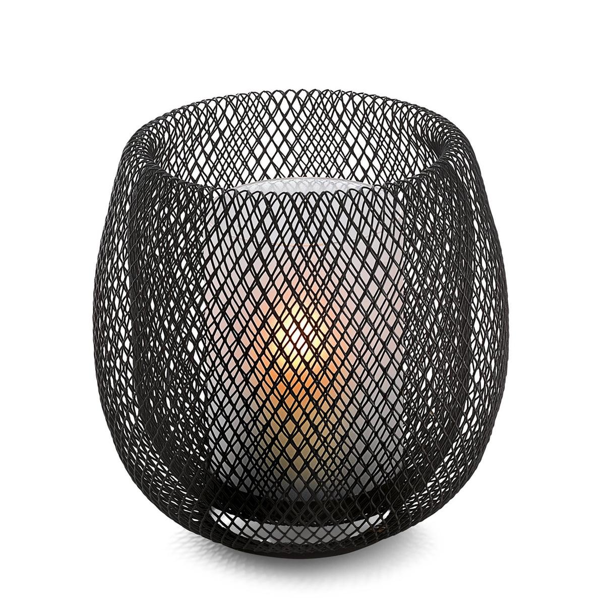 Philippi Design Philippi - Mesh Windlicht, schwarz | Dekoration > Kerzen und Kerzenständer > Windlichter | Schwarz | Philippi Design