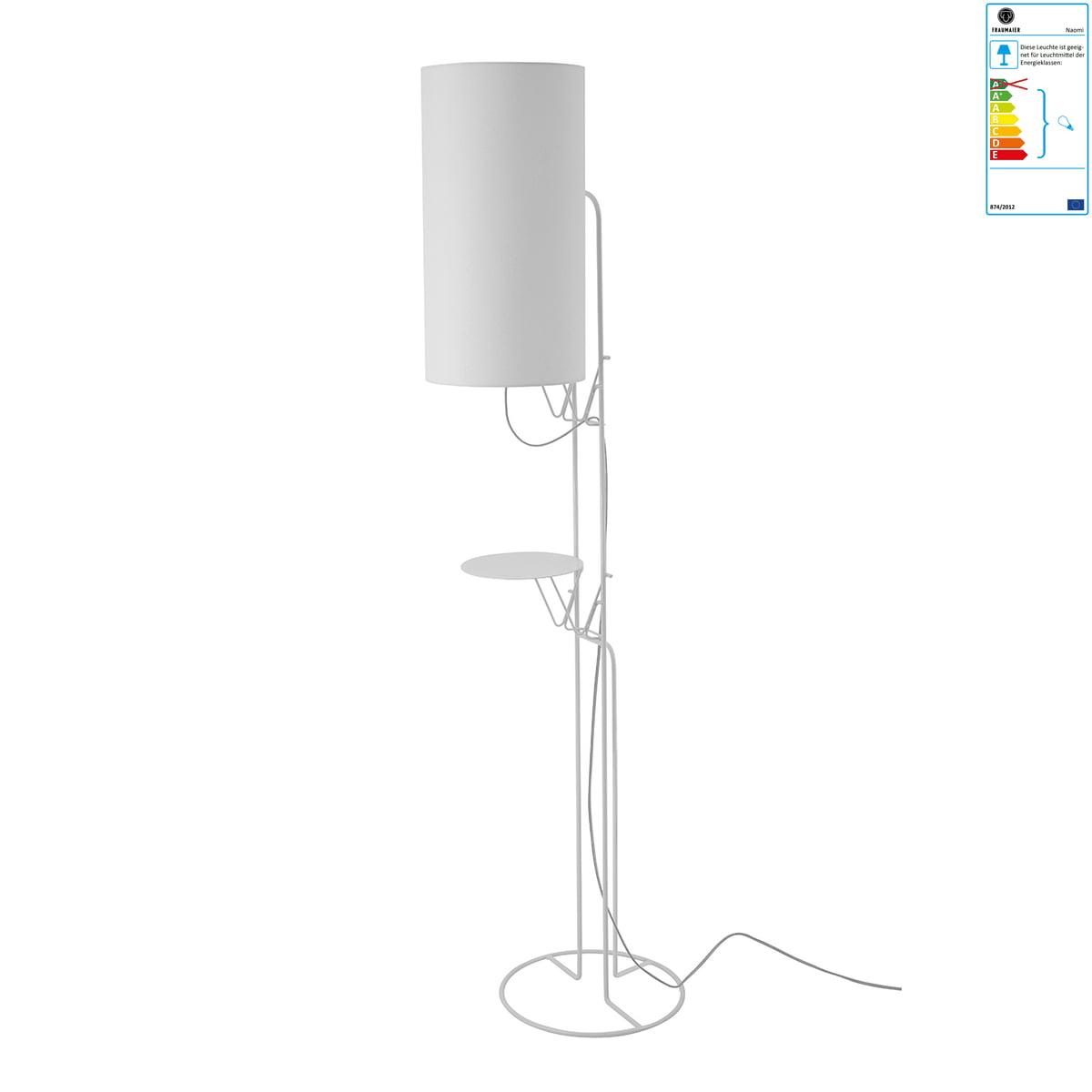 frauMaier - Naomi Stehleuchte, LED-Dimmer, weiß (RAL 9016) | Baumarkt > Elektroinstallation > Dimmer | fraumaier