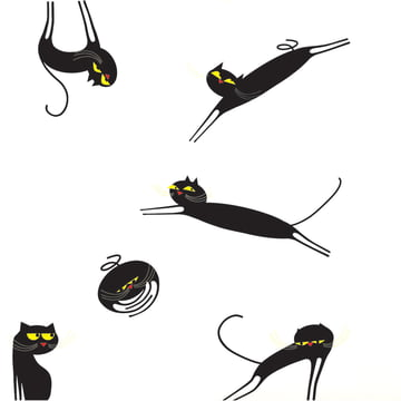 Domestic - Catenkit Wandsticker, schwarz